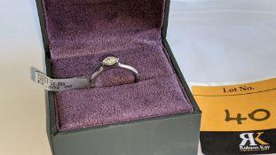 Platinum 950 & diamond ring with 0.22ct of G/VS diamond. RRP £2,502