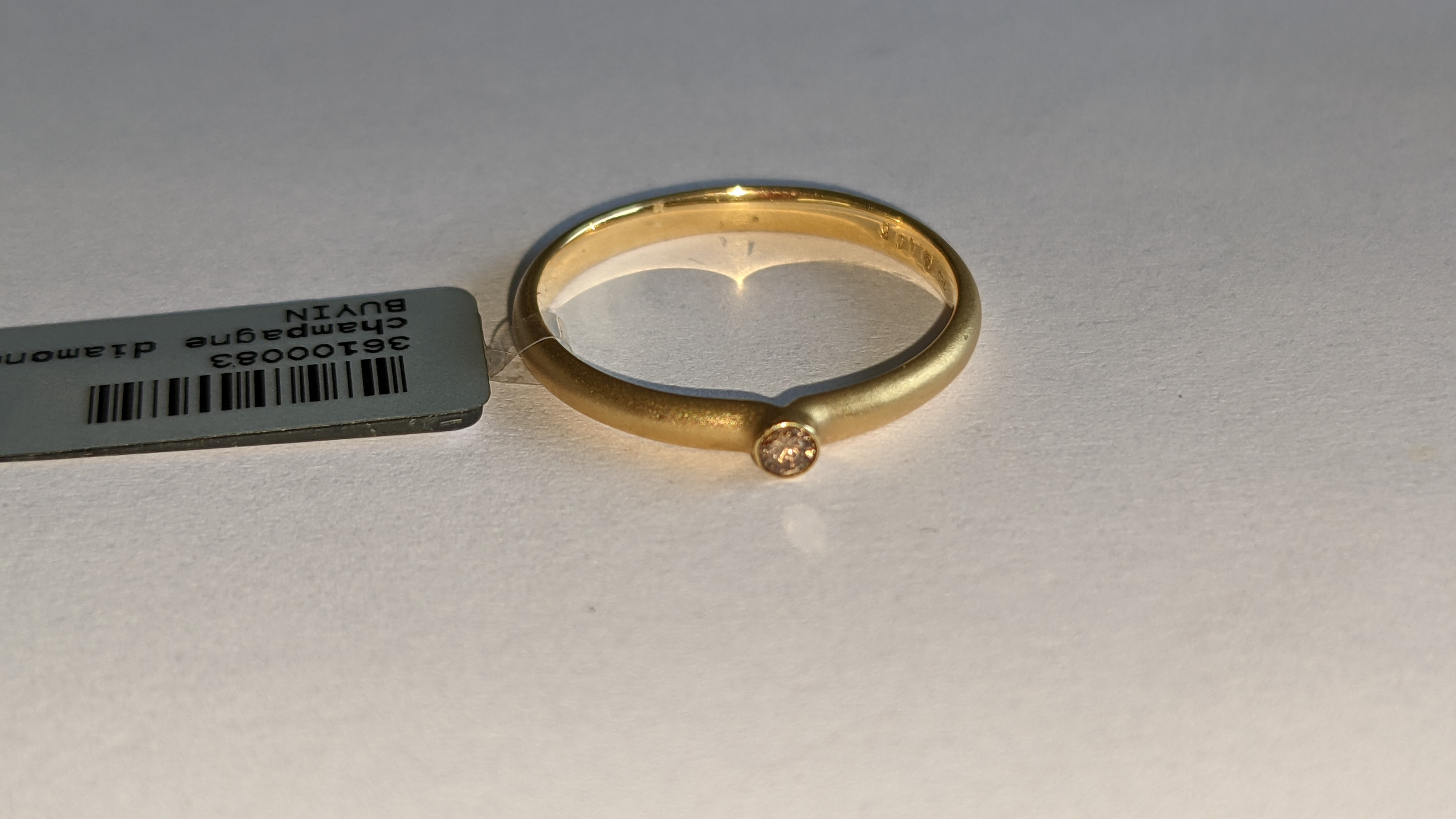 18ct yellow gold & champagne diamond ring RRP £695 - Image 4 of 14