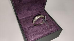 Platinum & diamond ring, 0.51ct of diamonds in total, Platinum 950, RRP £4,840. NB. The diamonds run
