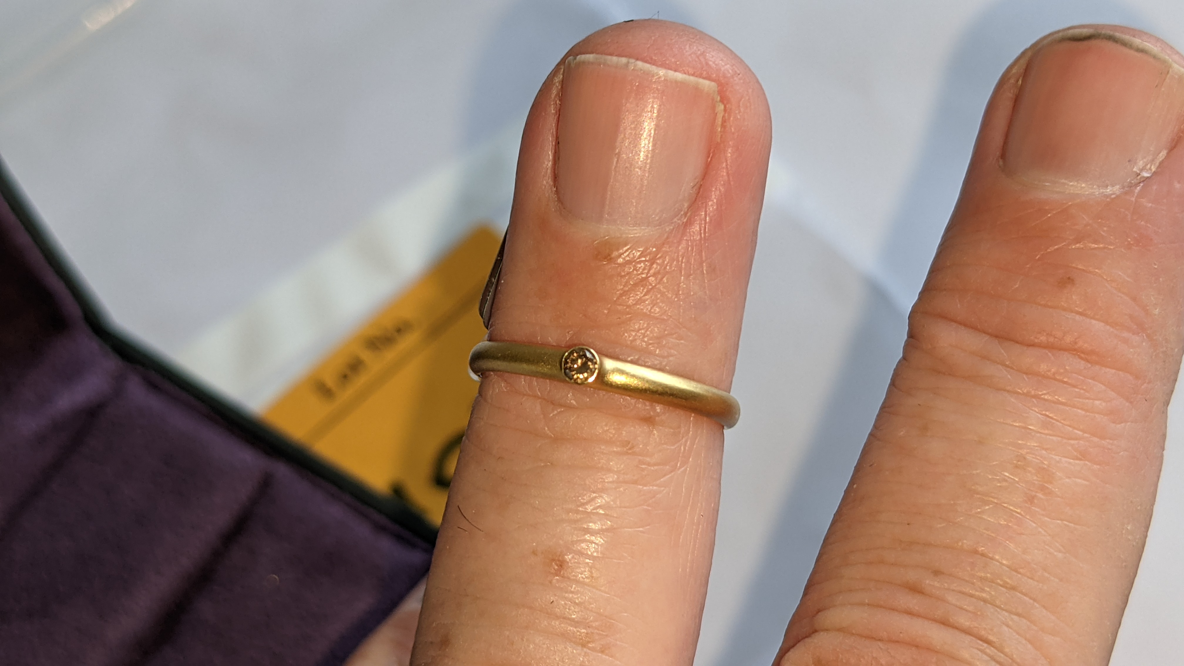 18ct yellow gold & champagne diamond ring RRP £695 - Image 12 of 14