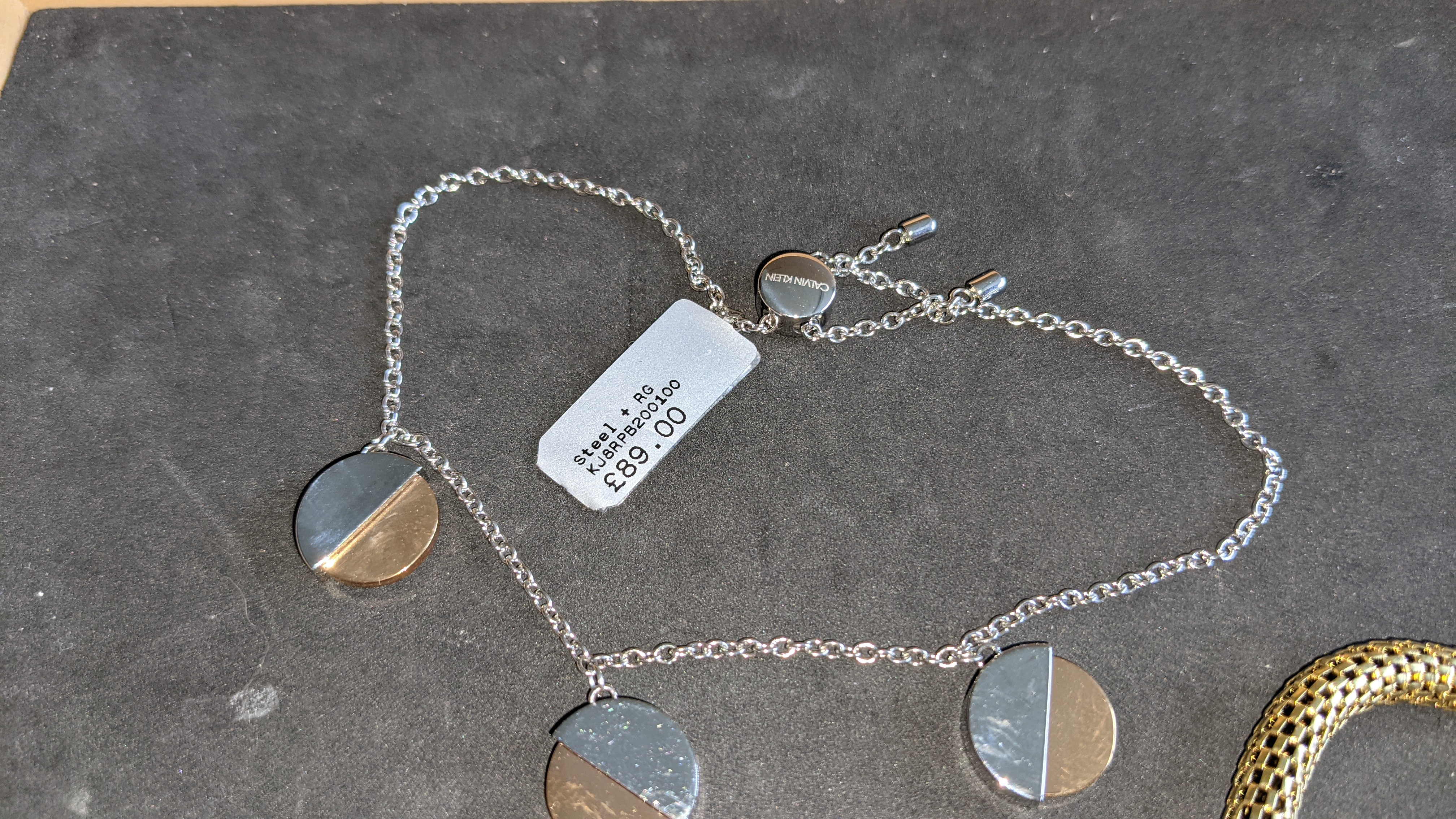 3 pieces of Calvin Klein jewellery comprising 2 off long necklaces each with an RRP of £115 plus two - Image 10 of 13