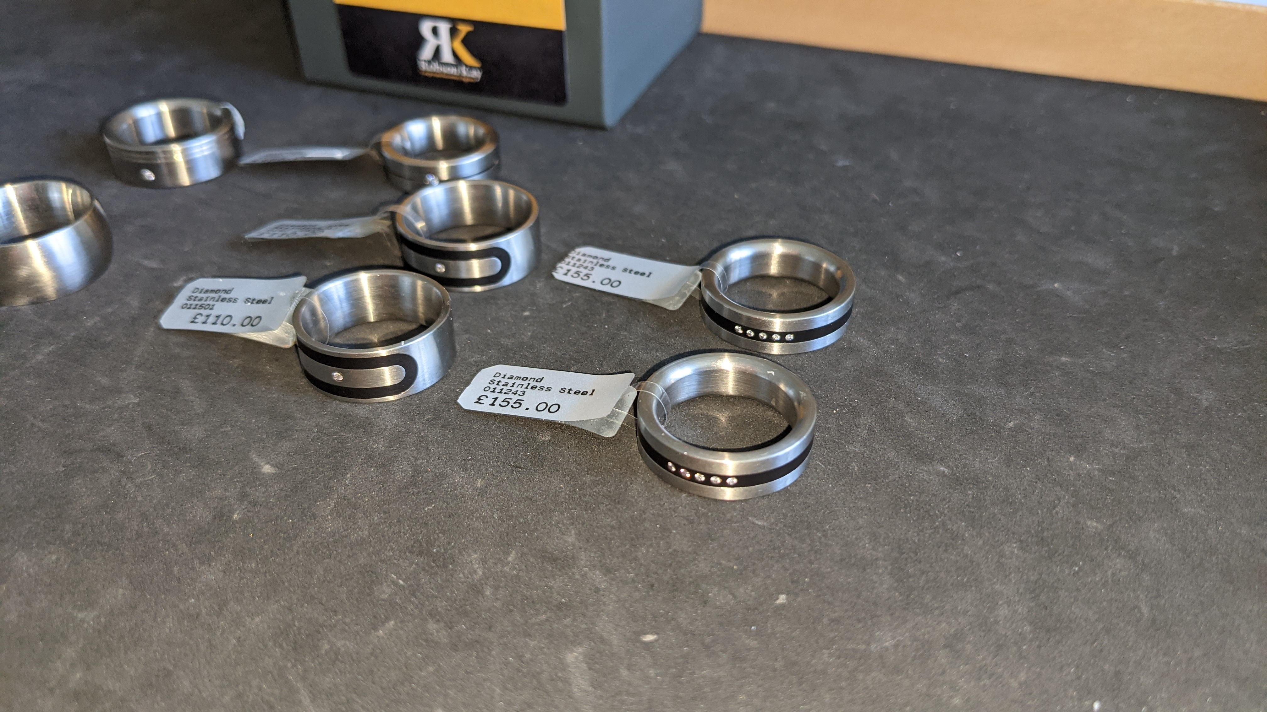 7 off assorted stainless steel & diamond rings. RRPs from £110 - £170. Total RRP £1,028 - Image 6 of 12