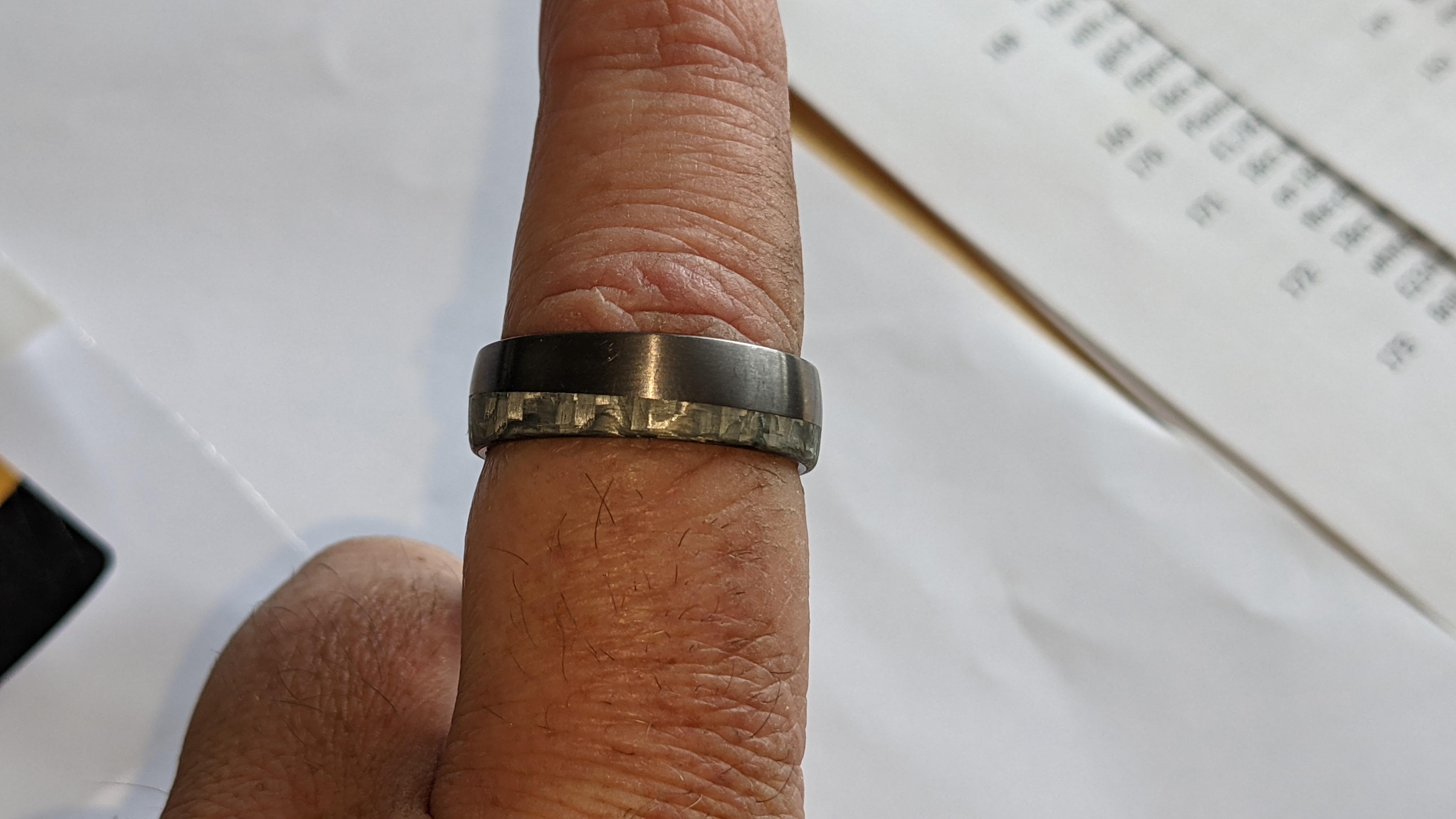 Tantalum & carbon ring RRP £600 - Image 12 of 13