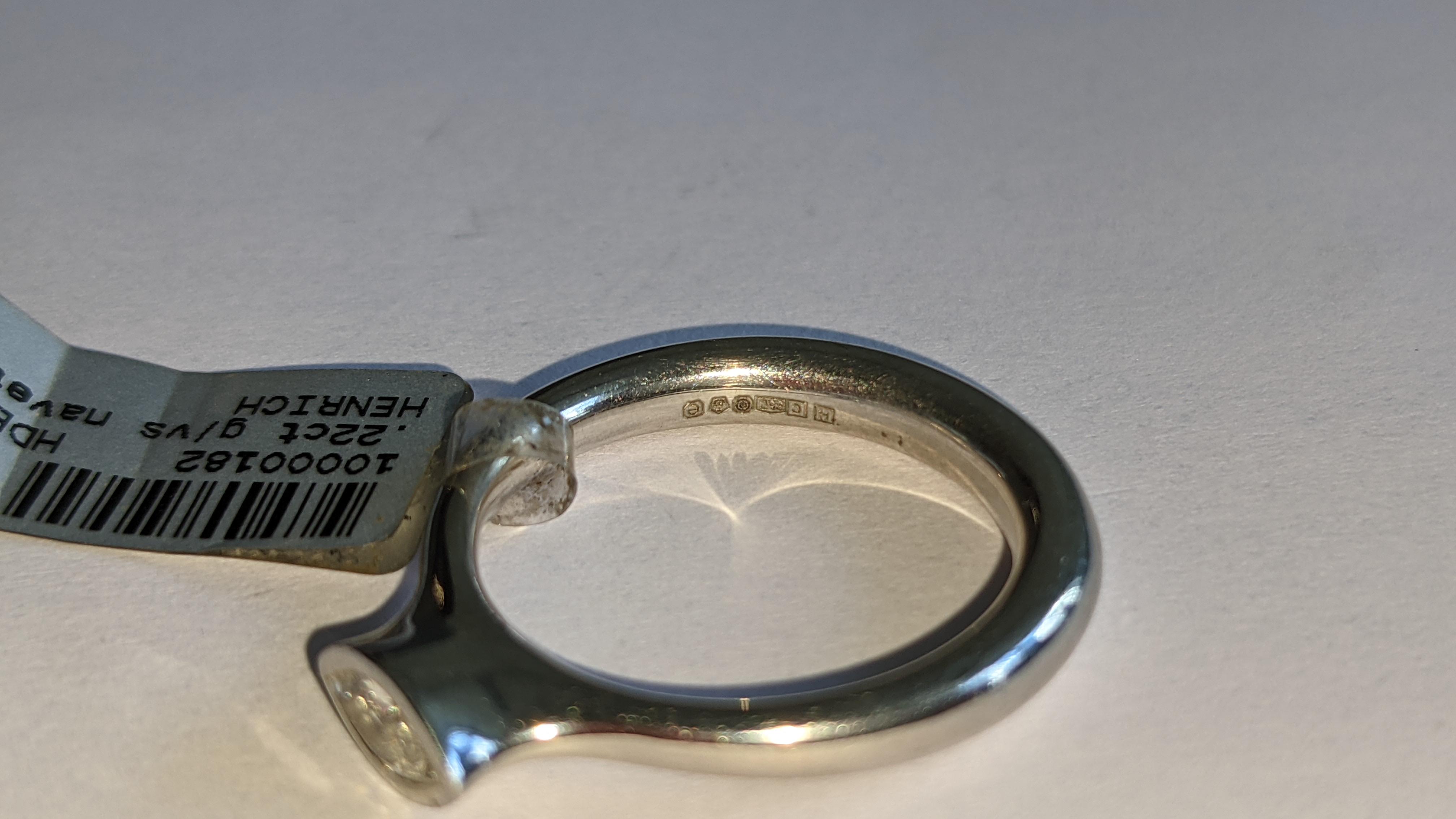 Platinum 950 & diamond ring with 0.22ct of G/VS diamond. RRP £2,502 - Image 9 of 14