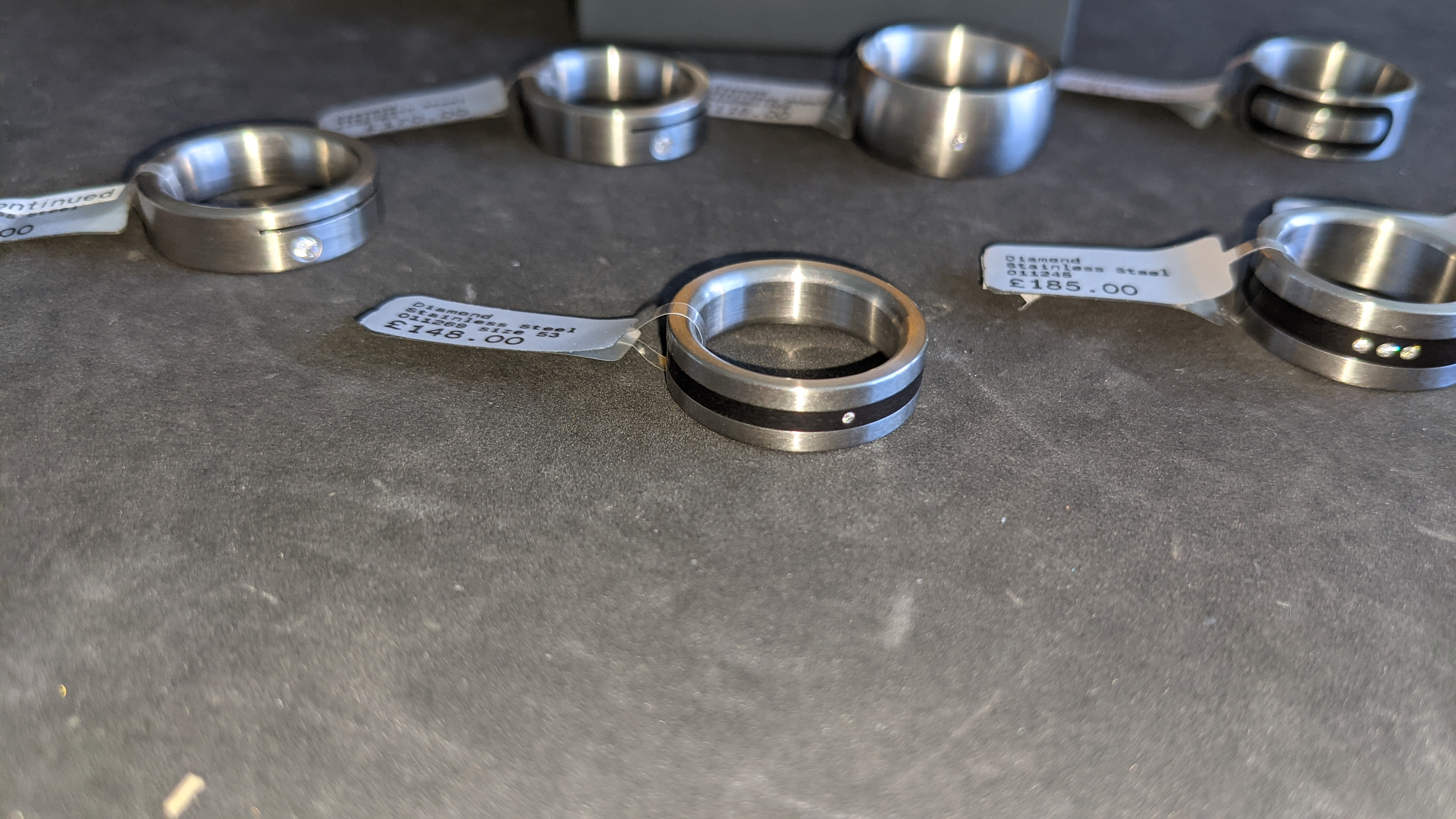7 off assorted stainless steel & diamond rings. RRPs from £110 - £185. Total RRP £1,089 - Image 5 of 12