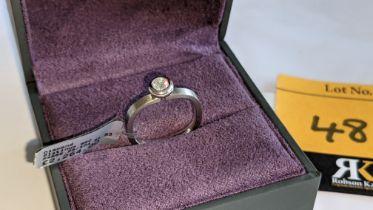 Platinum 950 & diamond ring with 0.22ct F/VS diamond. RRP £2,264