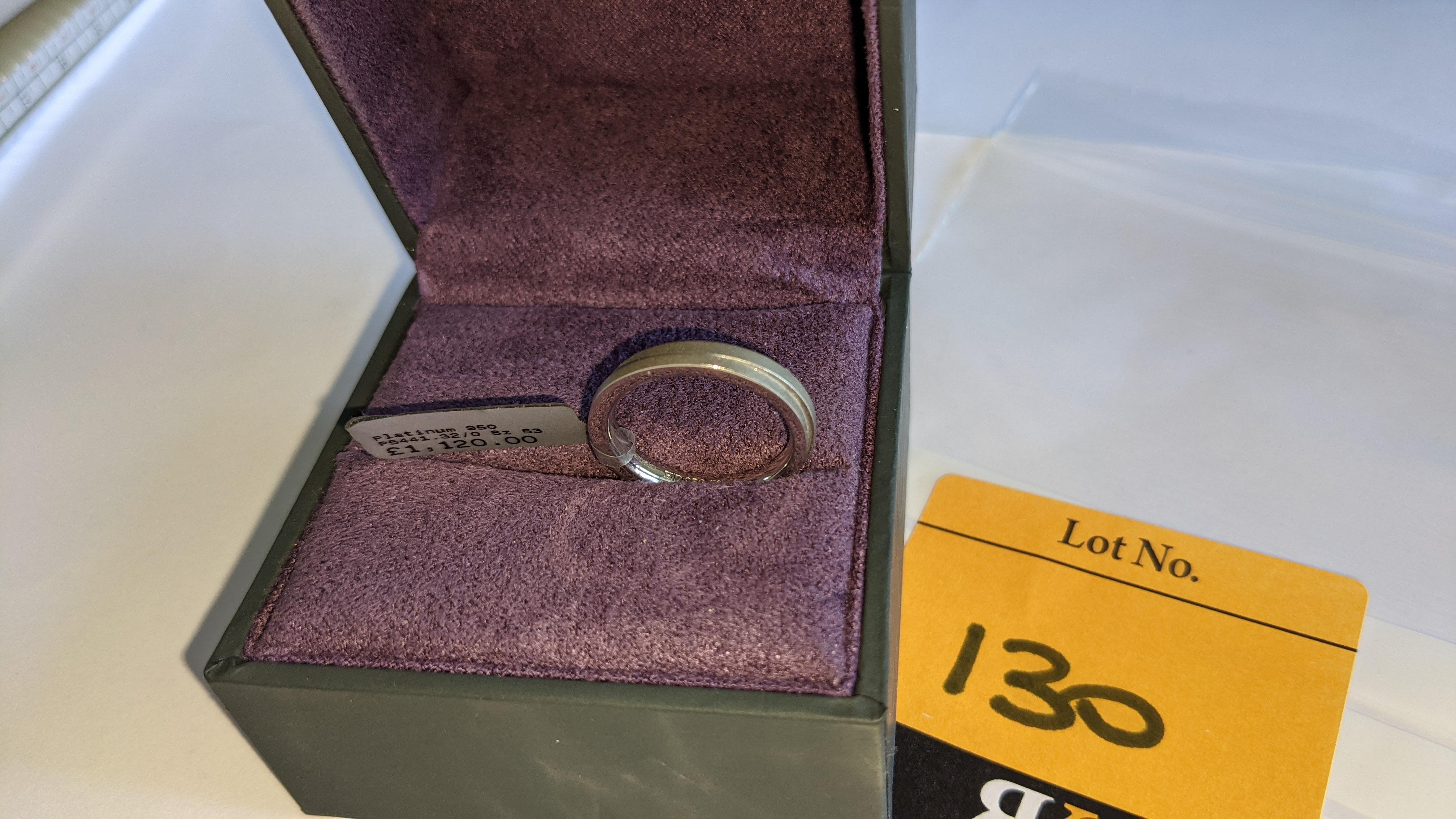 Platinum 950 wedding ring. RRP £1,120 - Image 4 of 13