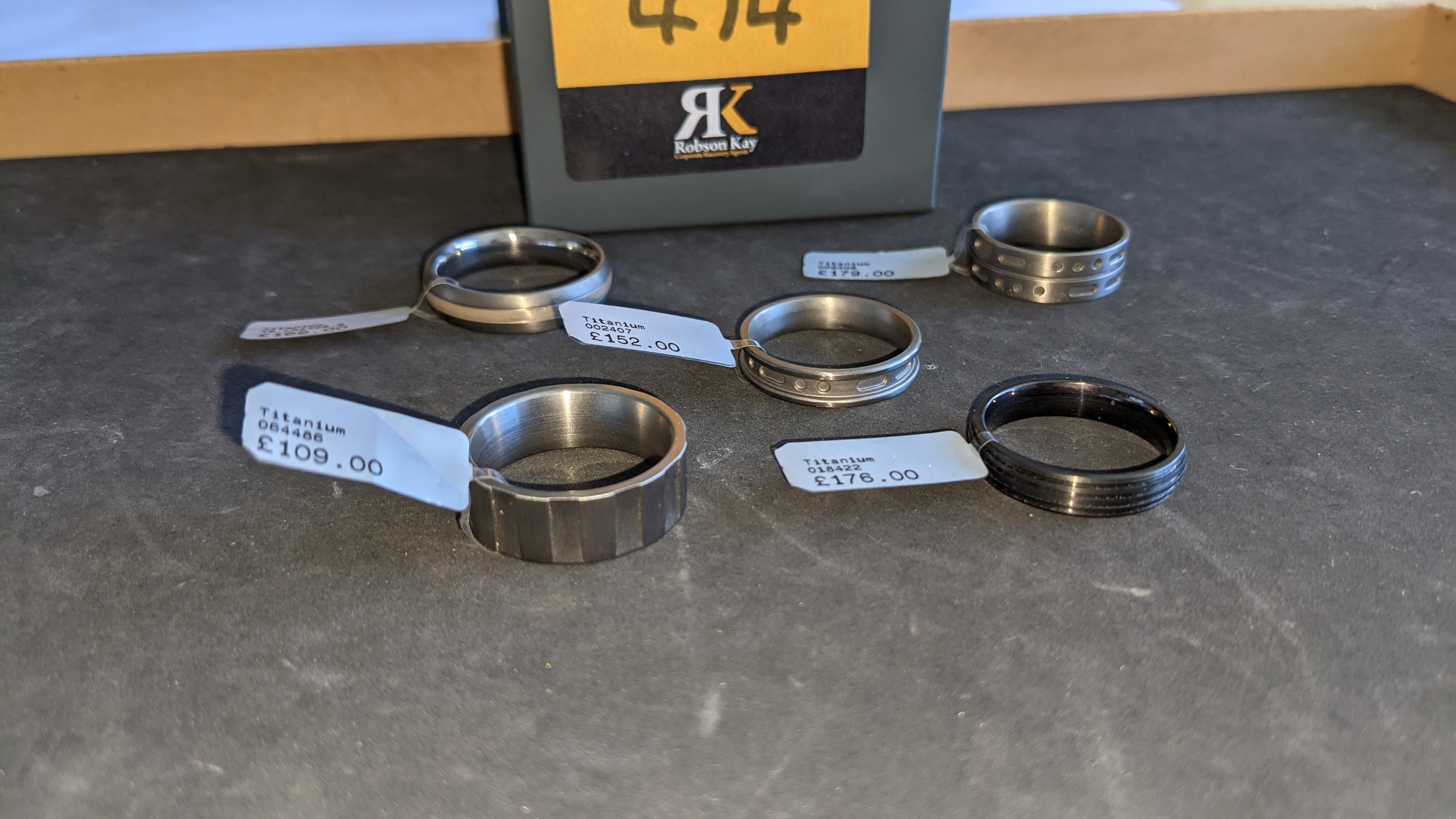 5 off assorted titanium rings with RRP from £109 - £179 per ring. Total RRP is £785 - Image 5 of 13