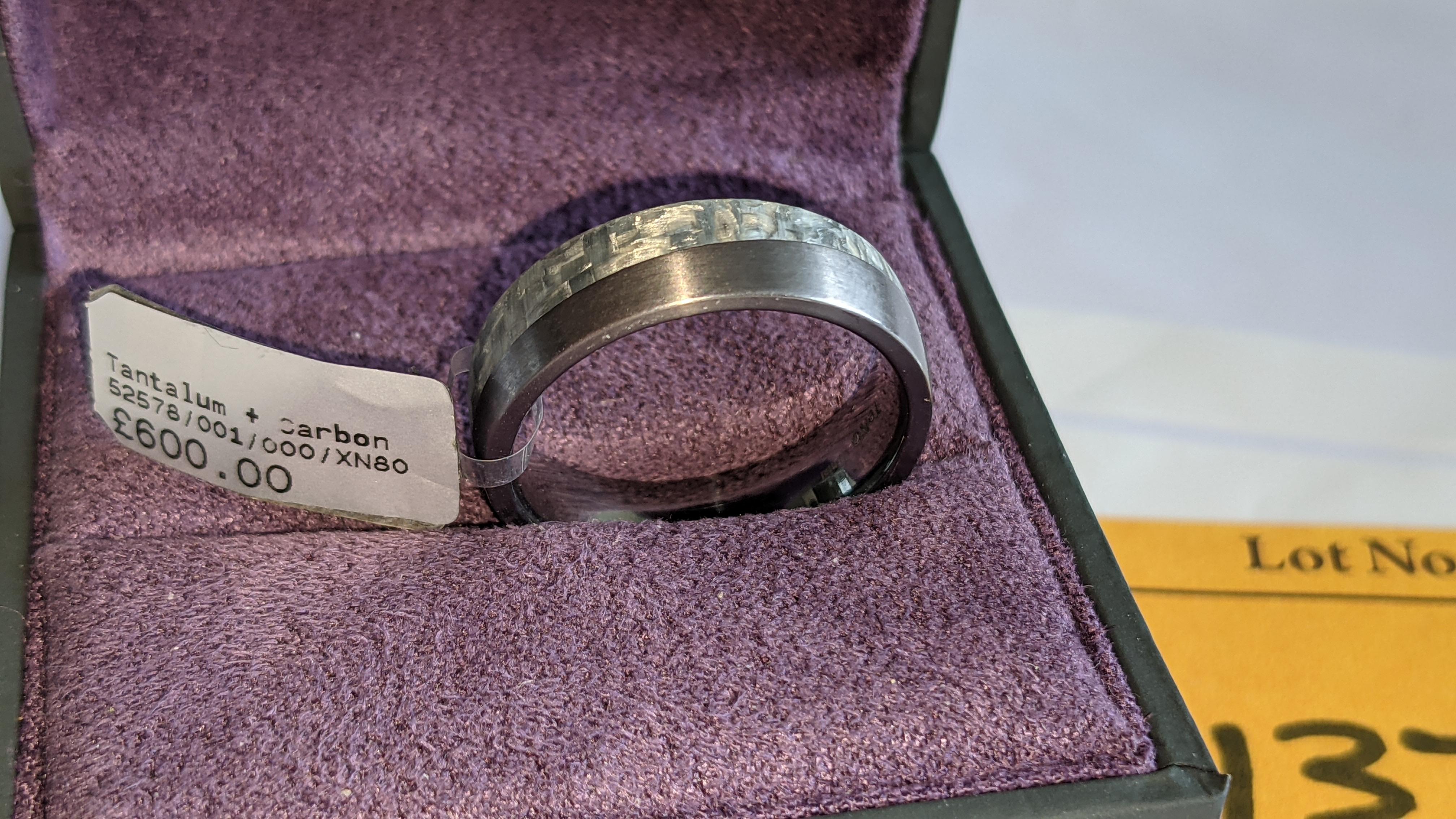 Tantalum & carbon ring RRP £600 - Image 2 of 13