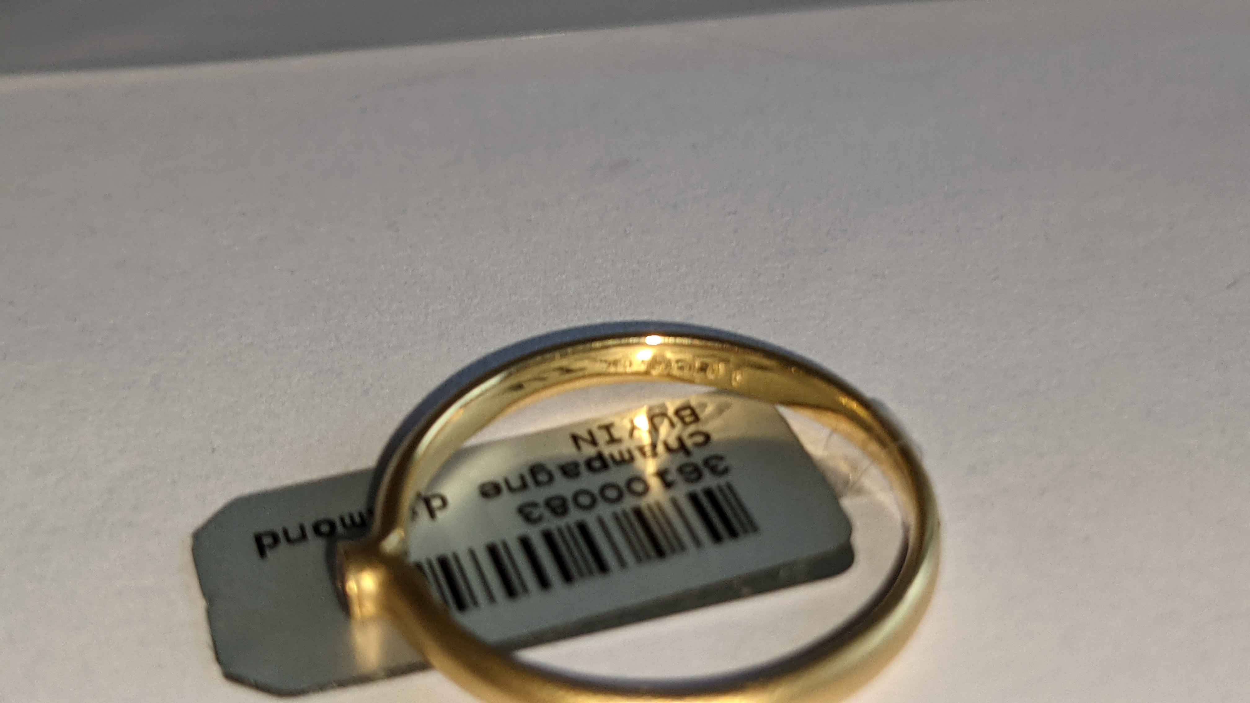 18ct yellow gold & champagne diamond ring RRP £695 - Image 8 of 14