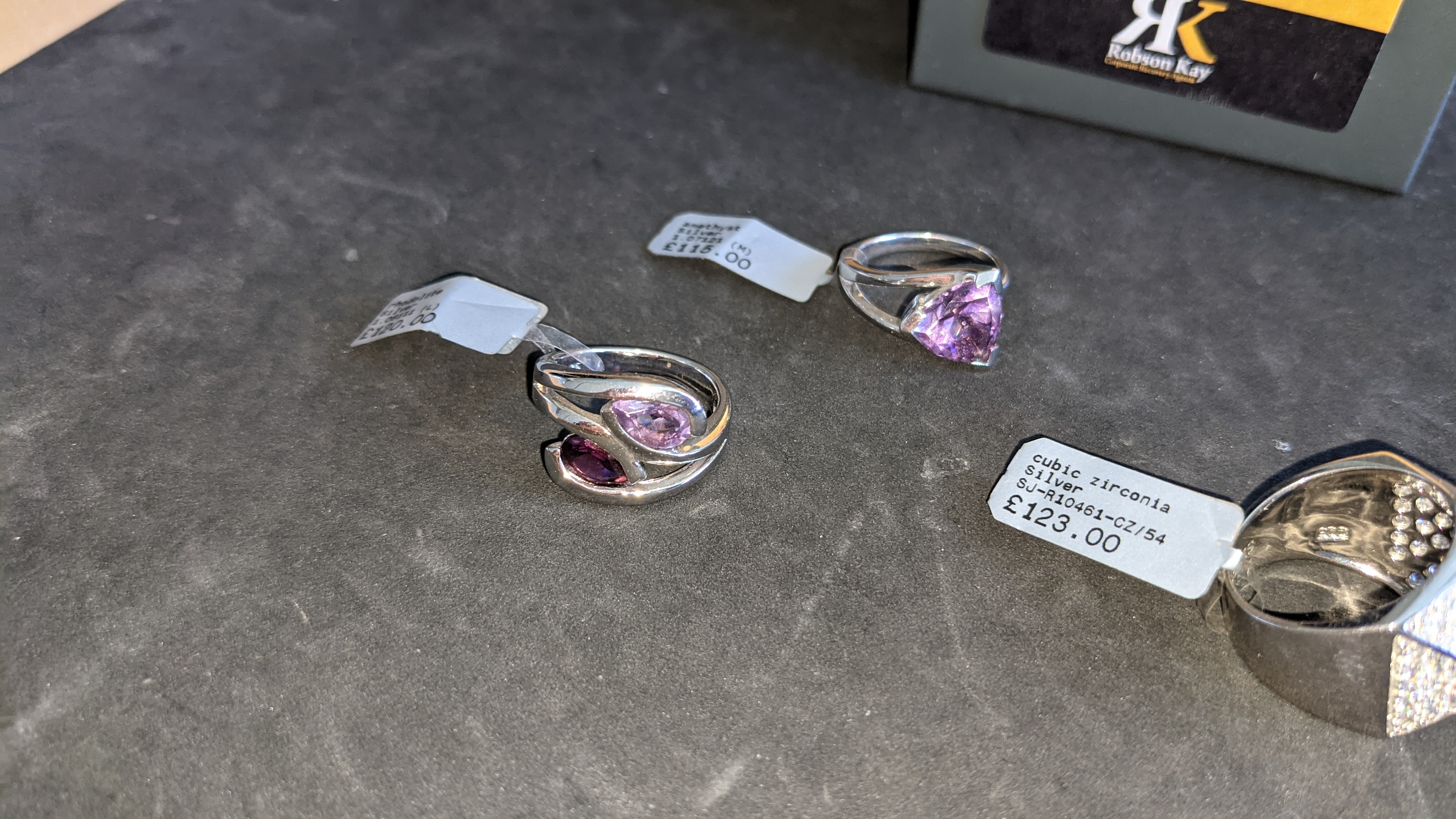 3 off assorted silver rings, each with a coloured stone. RRP from £115 - £123. Total RRP is £358 - Image 5 of 11