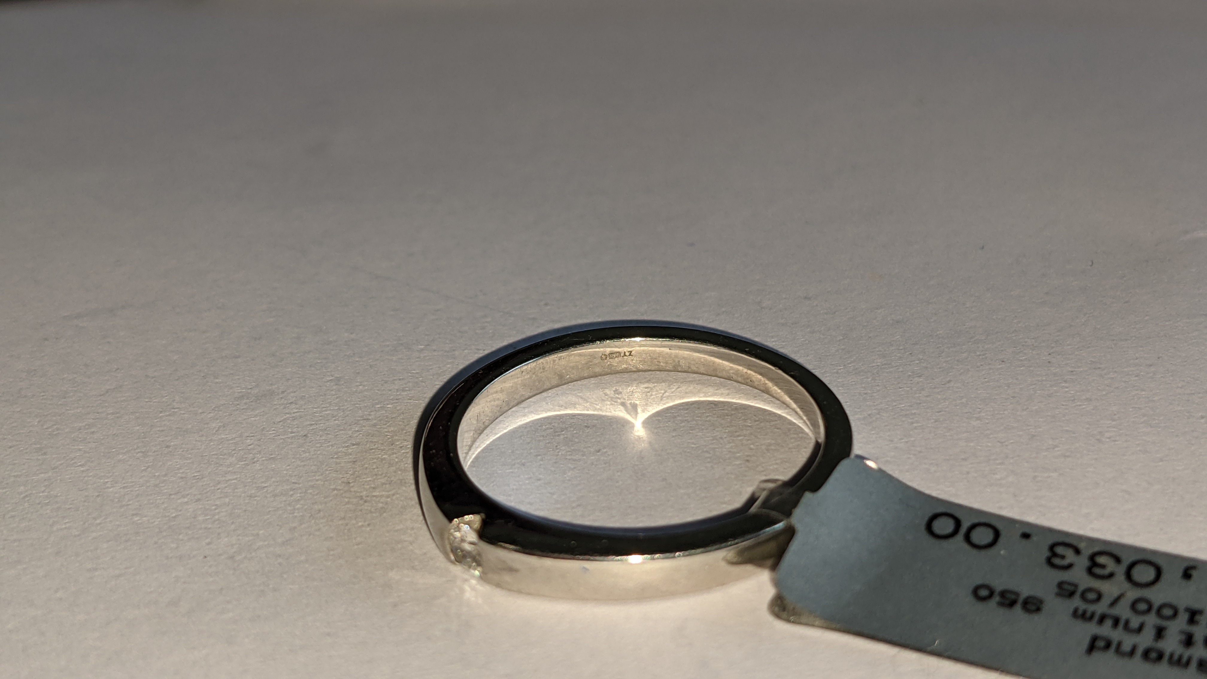 Platinum 950 ring with 0.05ct H/Si diamond. RRP £1,033 - Image 8 of 13