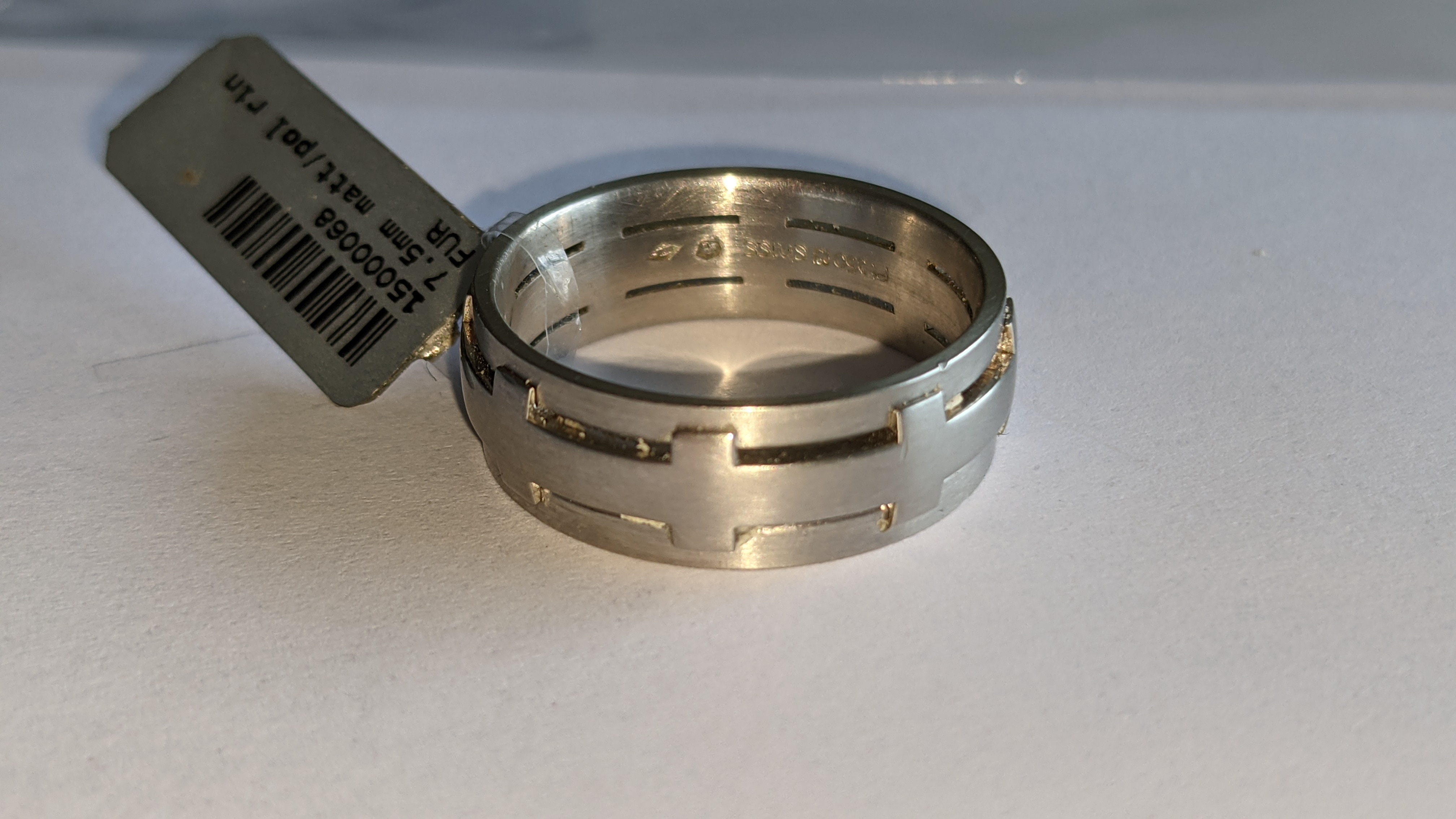Platinum 950 ring in matt & polished finish, 7.5mm wide. RRP £2,960 - Image 8 of 15