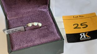 Platinum 950 ring with opals & diamonds, RRP £1,695