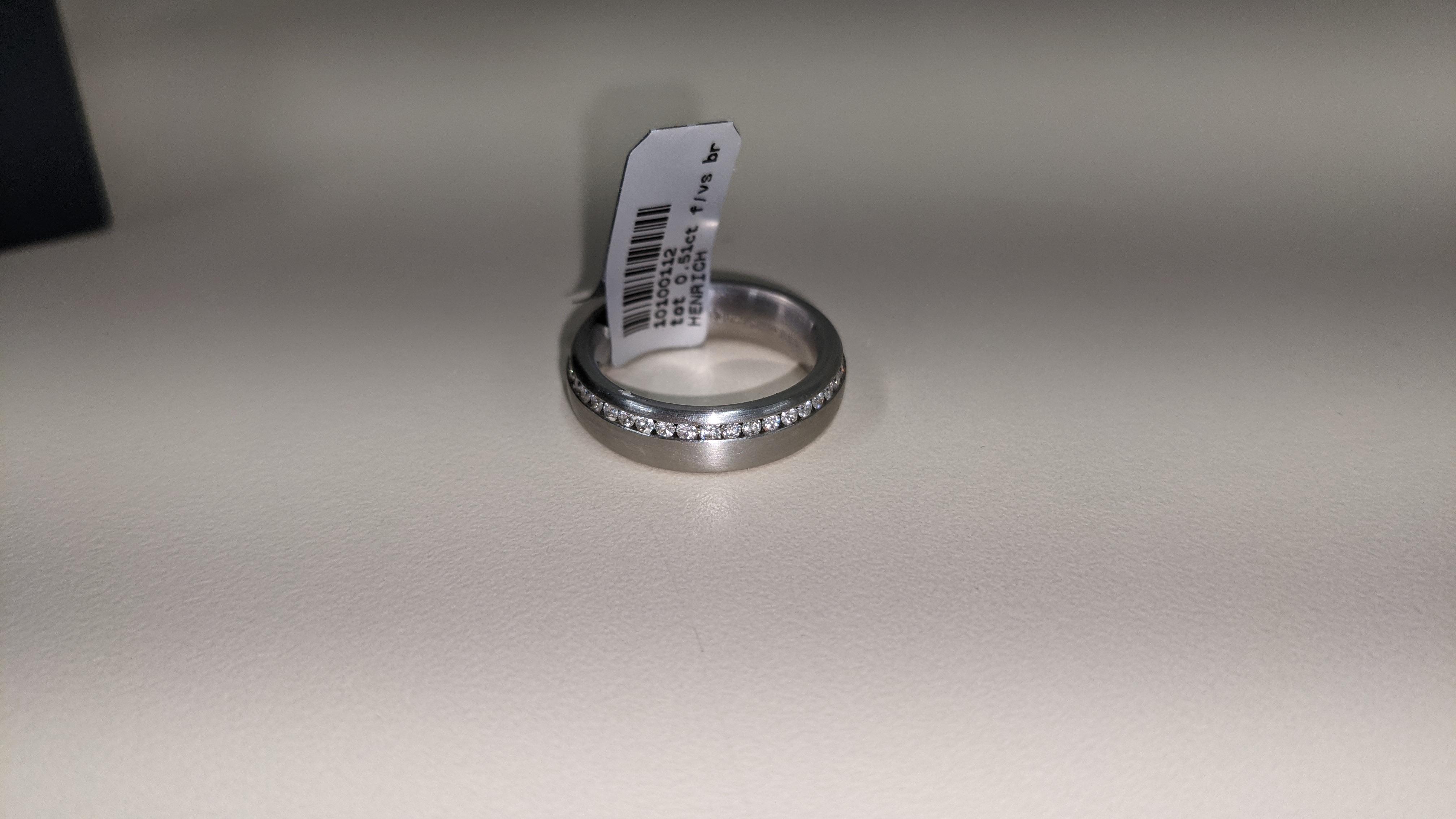 Platinum & diamond ring, 0.51ct of diamonds in total, Platinum 950, RRP £4,840. NB. The diamonds run - Image 3 of 20