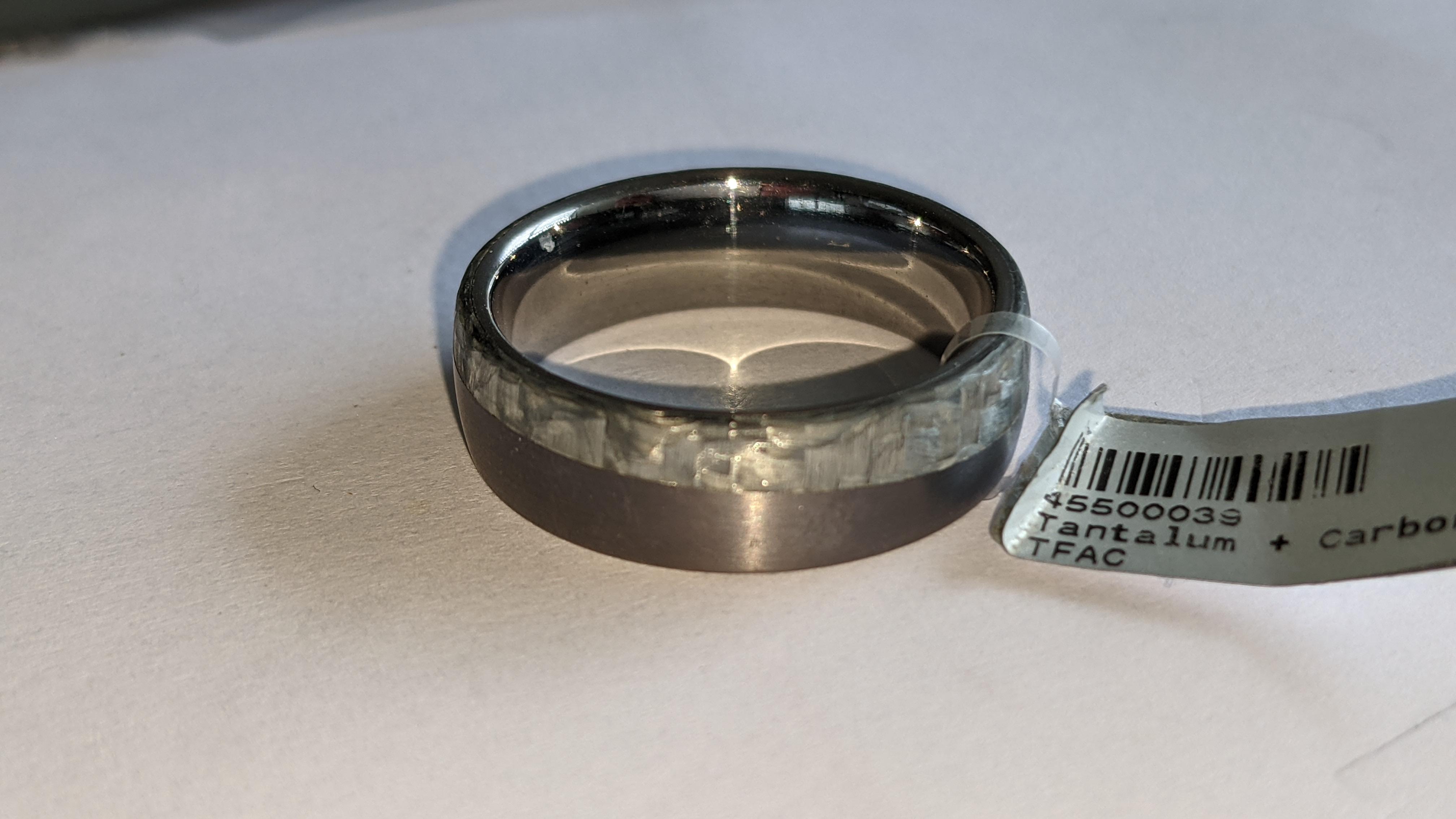 Tantalum & carbon ring RRP £600 - Image 8 of 13