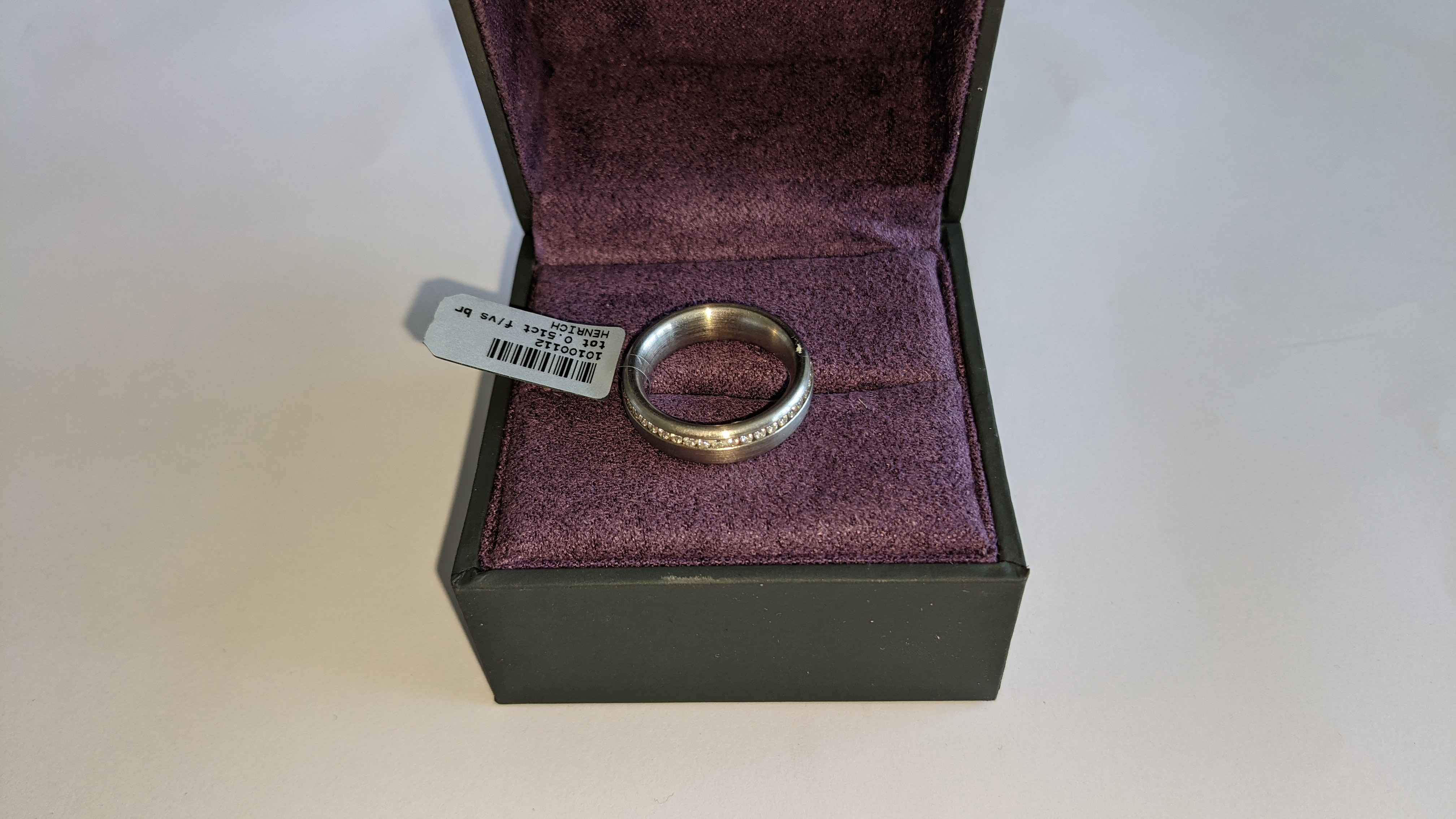 Platinum & diamond ring, 0.51ct of diamonds in total, Platinum 950, RRP £4,840. NB. The diamonds run - Image 17 of 20