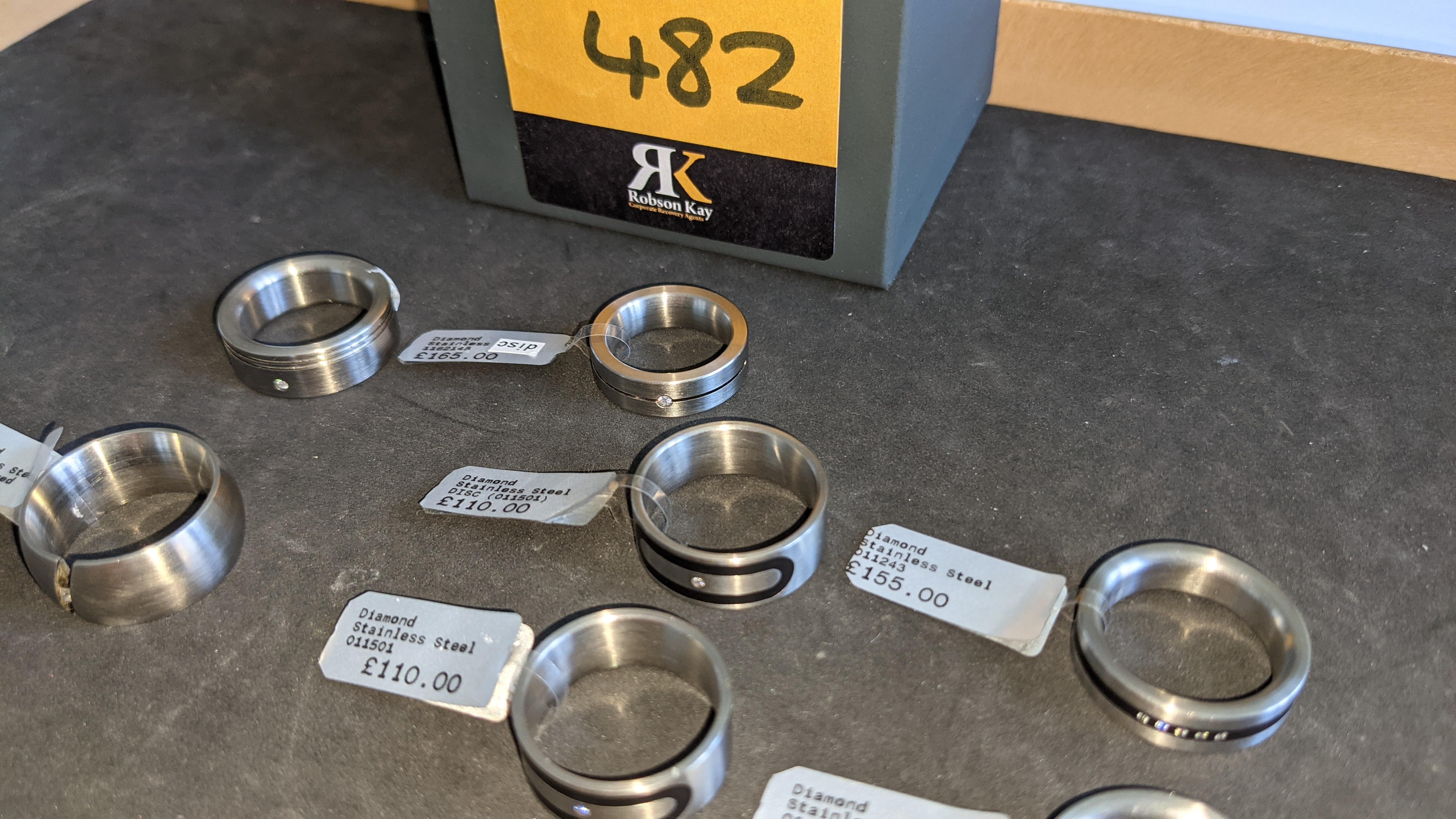 7 off assorted stainless steel & diamond rings. RRPs from £110 - £170. Total RRP £1,028 - Image 7 of 12
