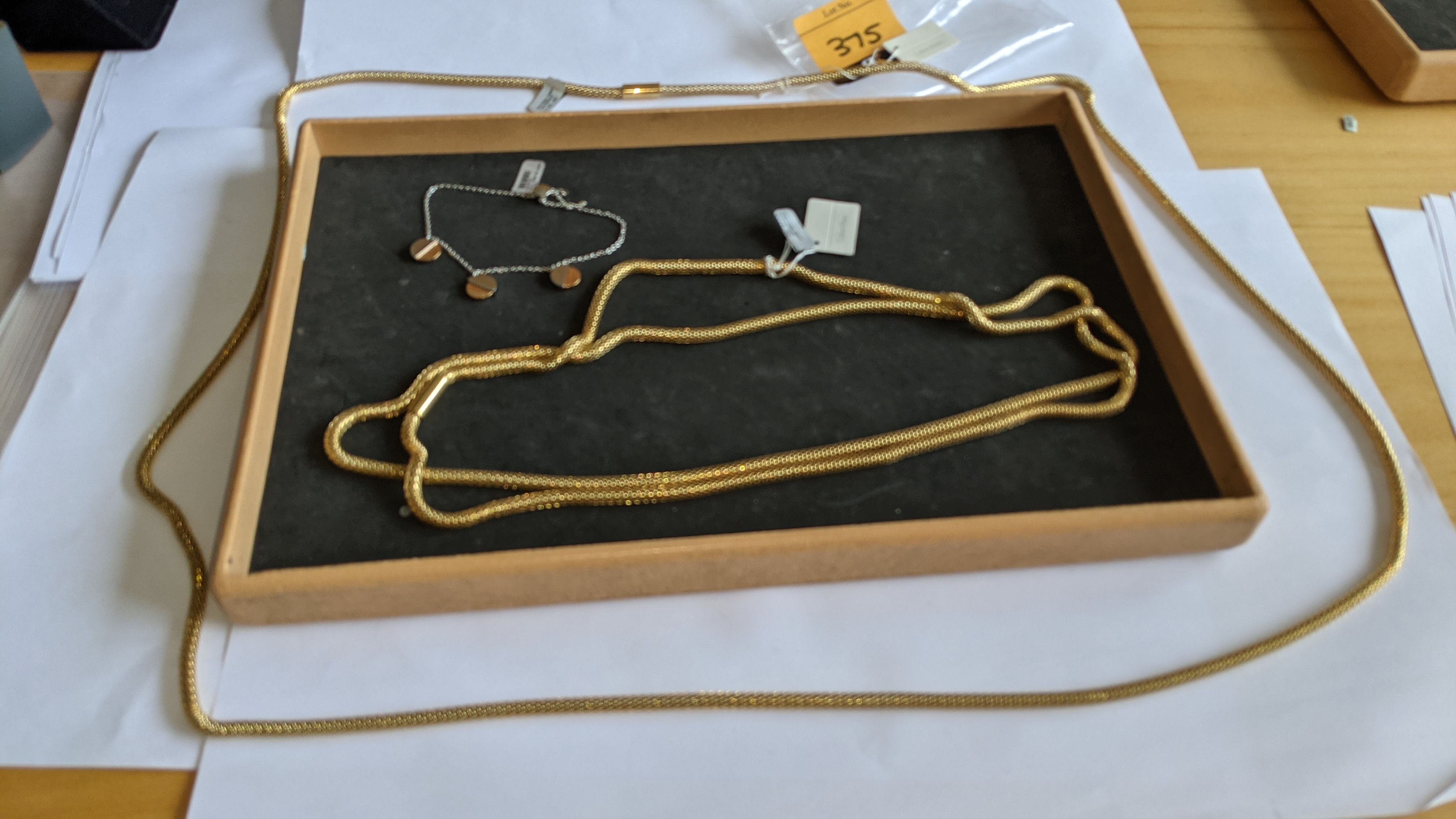 3 pieces of Calvin Klein jewellery comprising 2 off long necklaces each with an RRP of £115 plus two