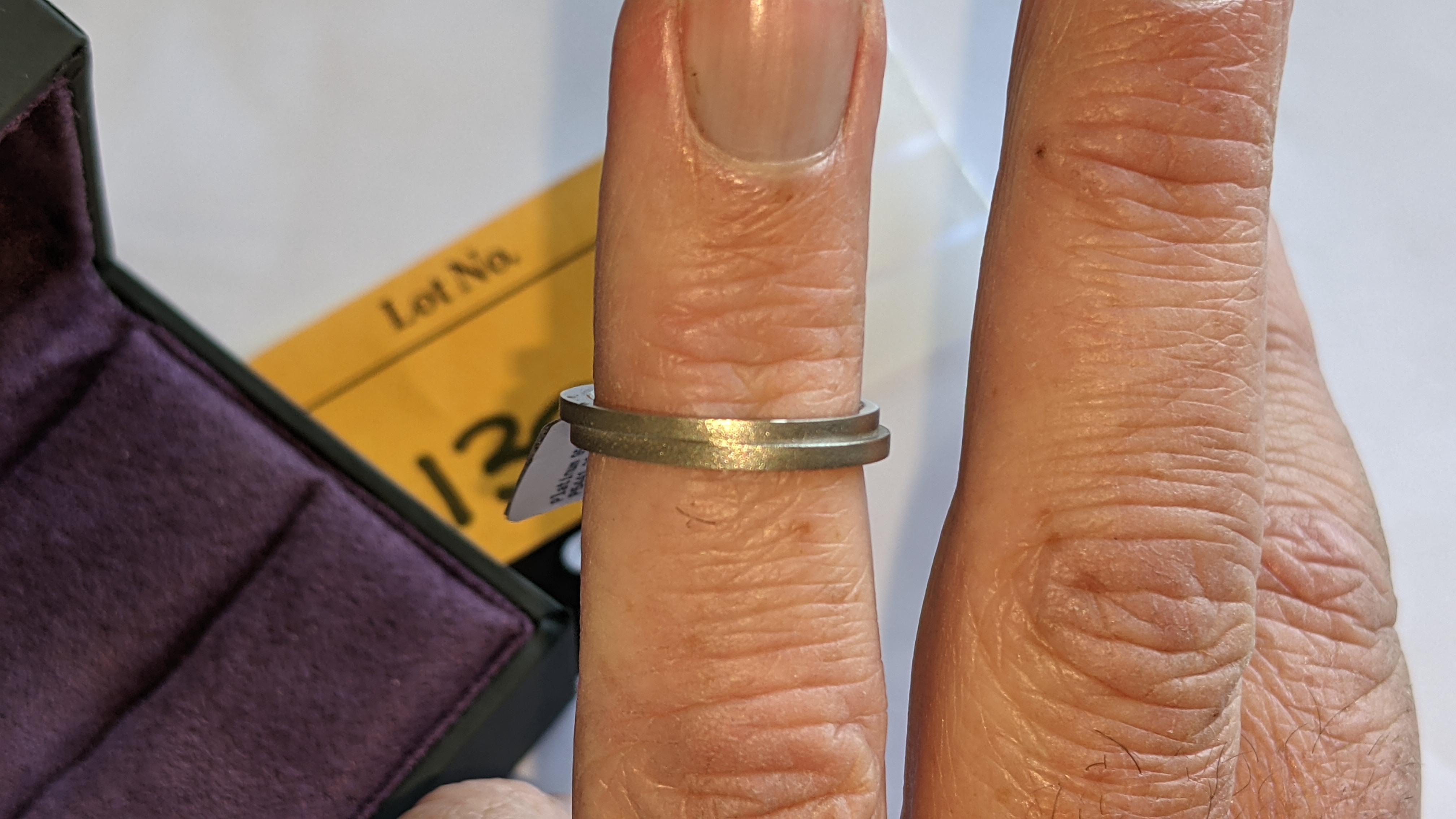 Platinum 950 wedding ring. RRP £1,120 - Image 13 of 13