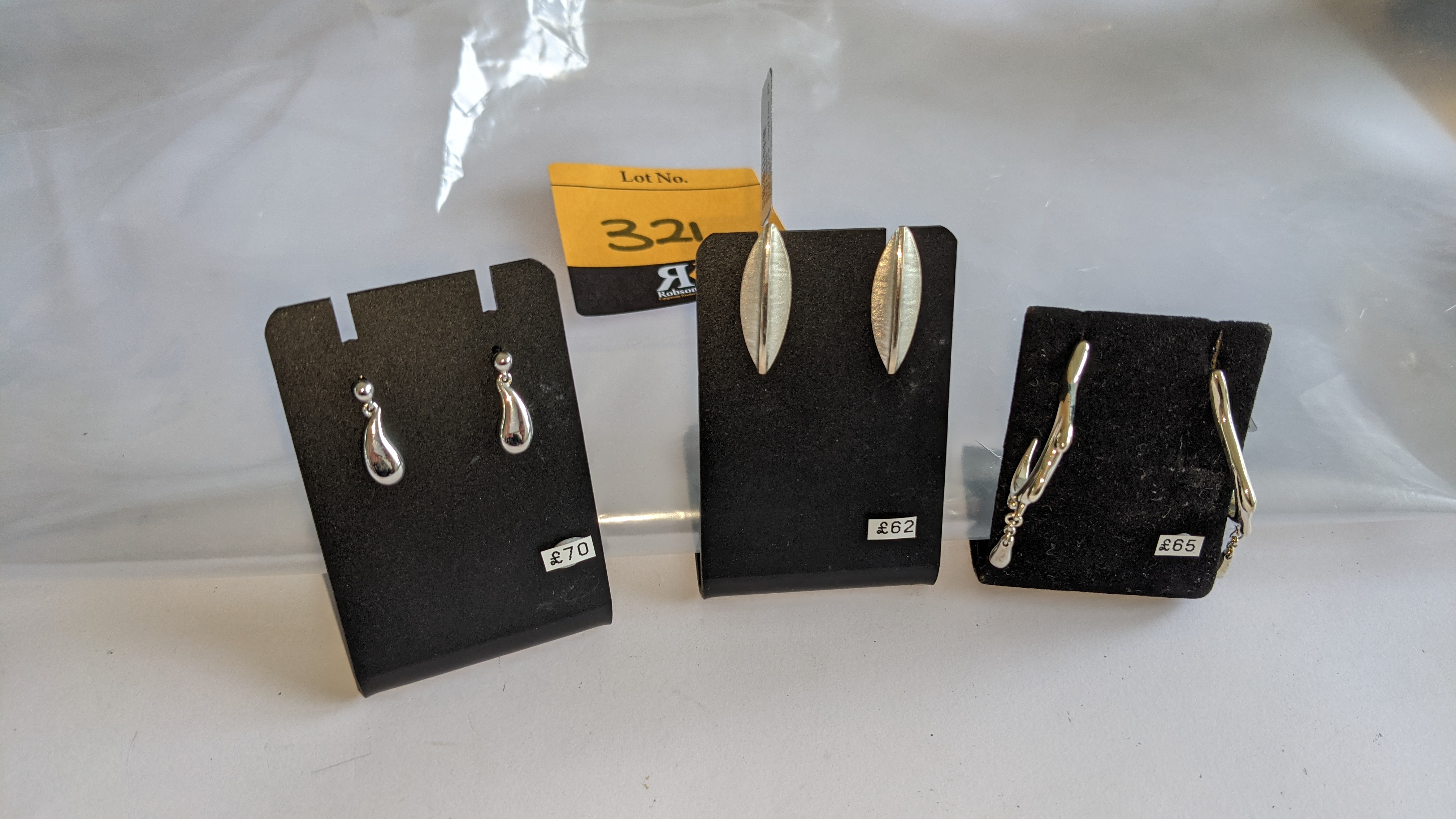 3 assorted pairs of earrings, each with a retail price of £62 - £70 per pair, total RRP £197 - Image 2 of 9