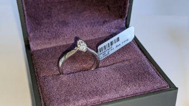 18ct white gold & diamond ring with 0.42ct diamond. RRP £2,875