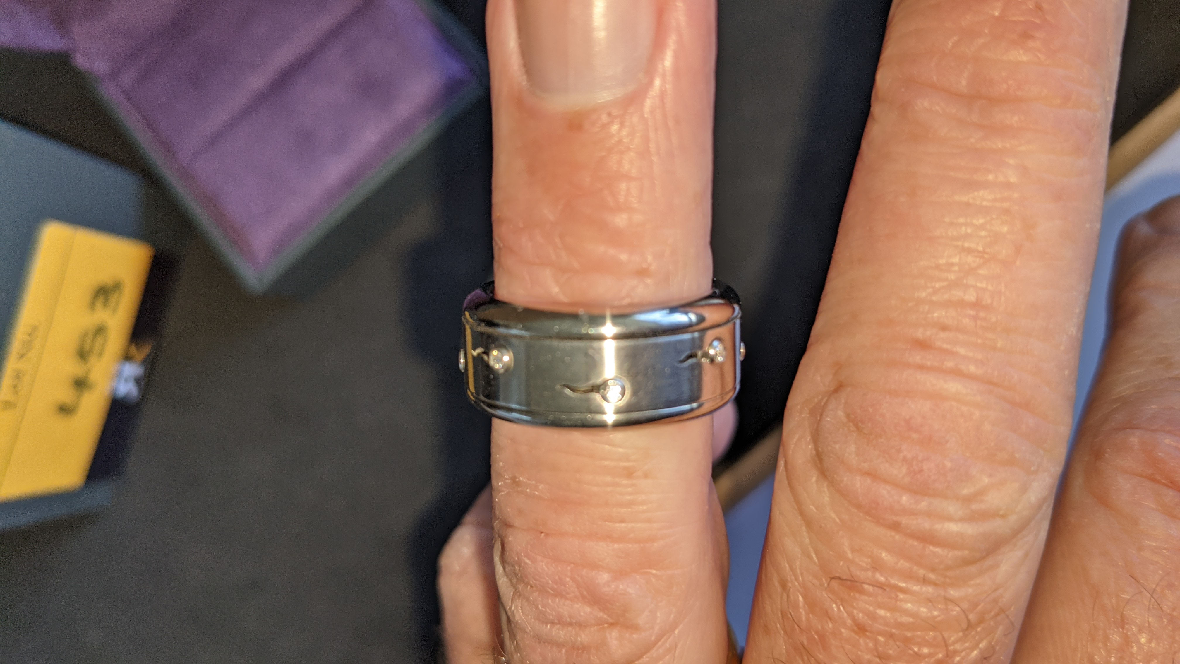 Stainless steel & diamond spin ring RRP £455 - Image 12 of 13