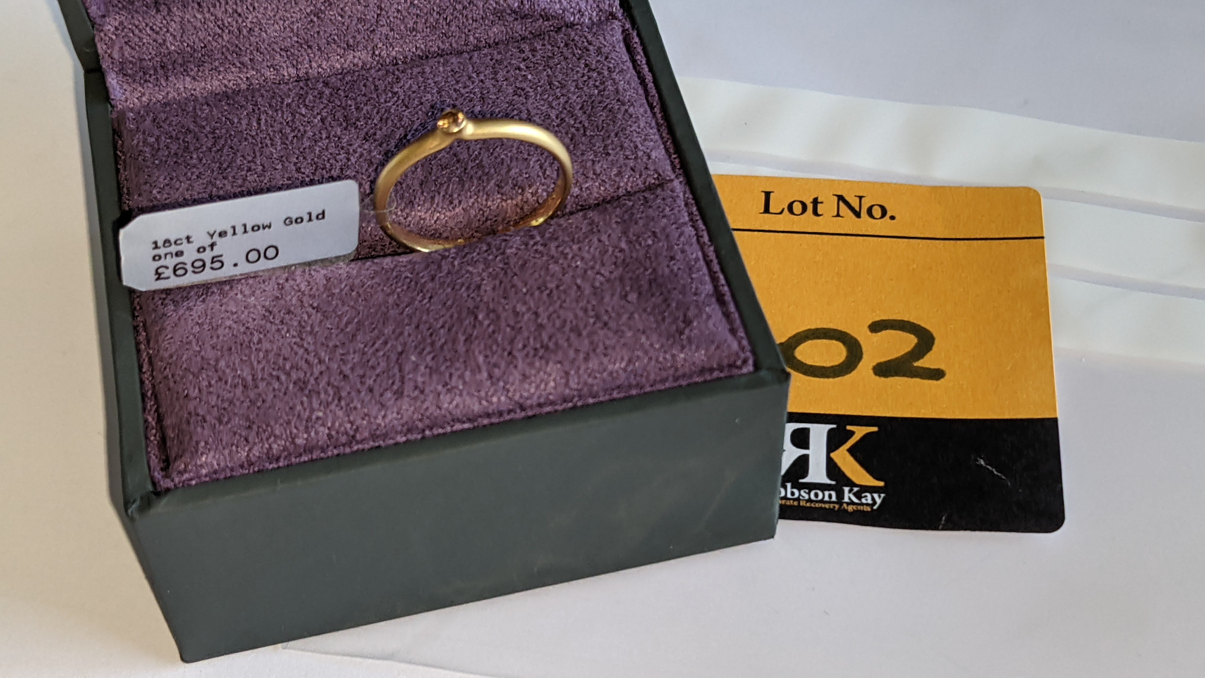 18ct yellow gold & champagne diamond ring RRP £695 - Image 13 of 14