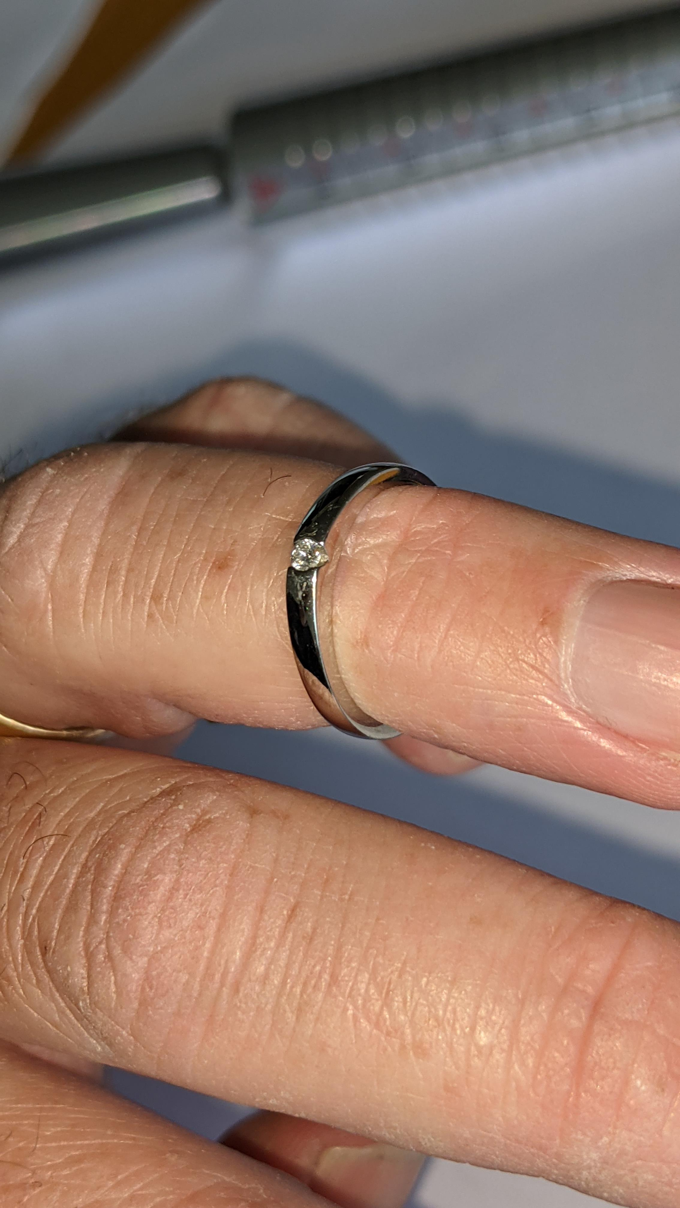 Platinum 950 ring with 0.05ct H/Si diamond. RRP £1,033 - Image 13 of 13