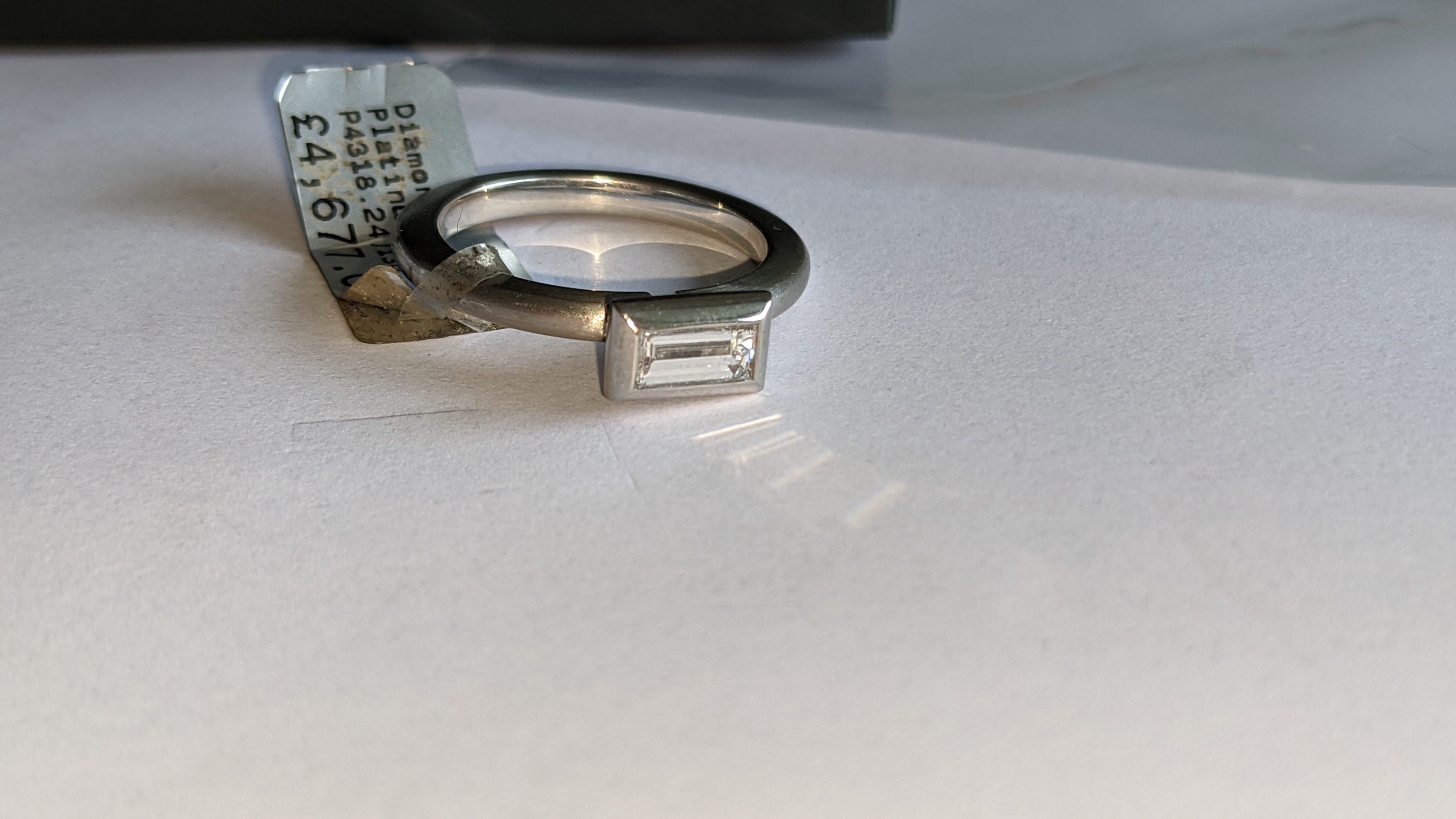 Modern platinum 950 & diamond ring with 0.42ct centrally mounted stone. RRP £4,677 - Image 10 of 18