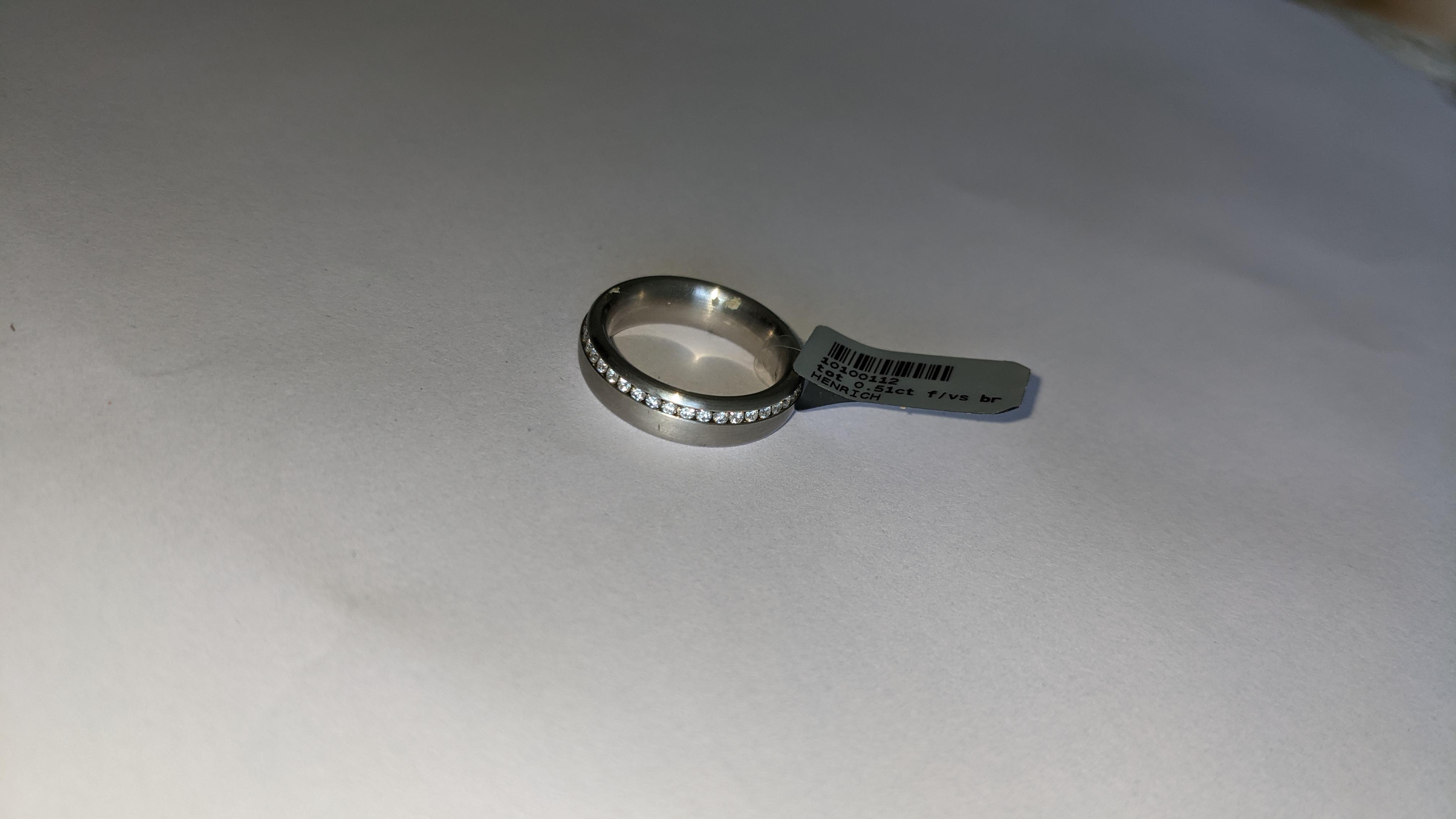 Platinum & diamond ring, 0.51ct of diamonds in total, Platinum 950, RRP £4,840. NB. The diamonds run - Image 8 of 20