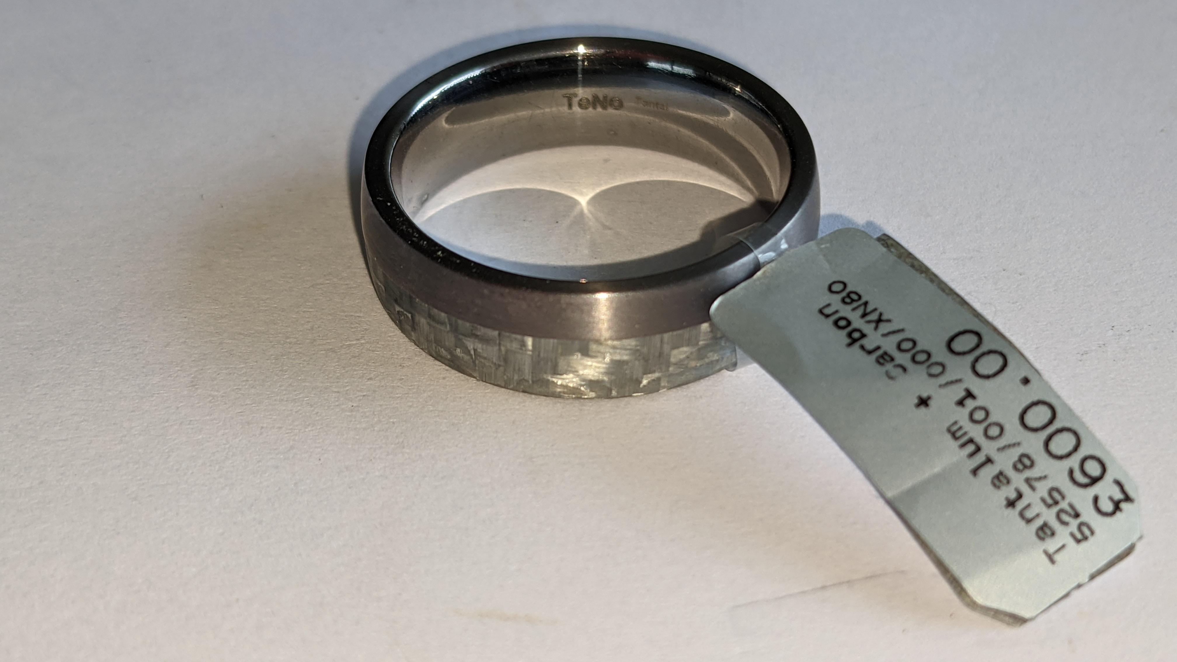 Tantalum & carbon ring RRP £600 - Image 5 of 13
