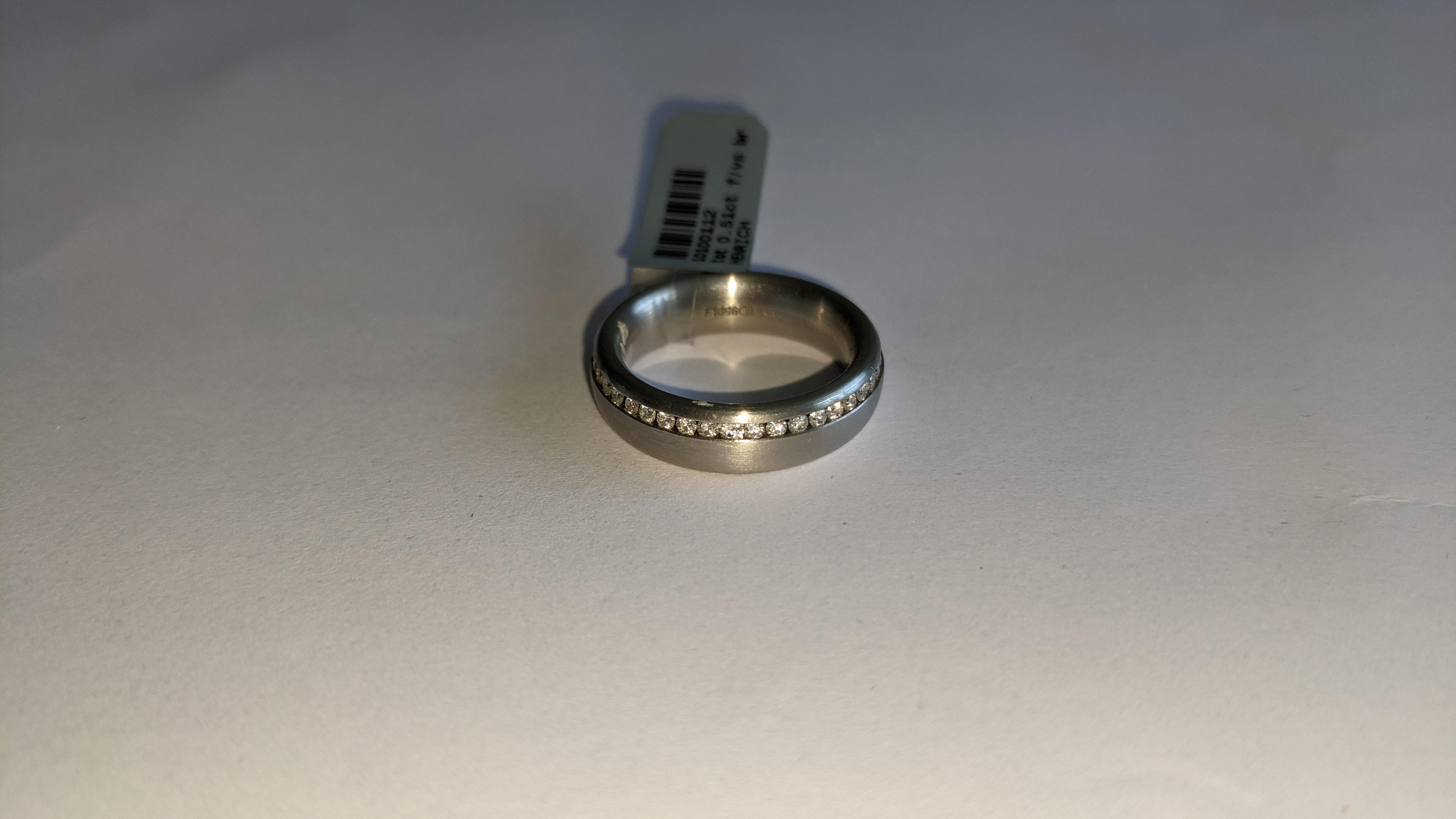 Platinum & diamond ring, 0.51ct of diamonds in total, Platinum 950, RRP £4,840. NB. The diamonds run - Image 4 of 20