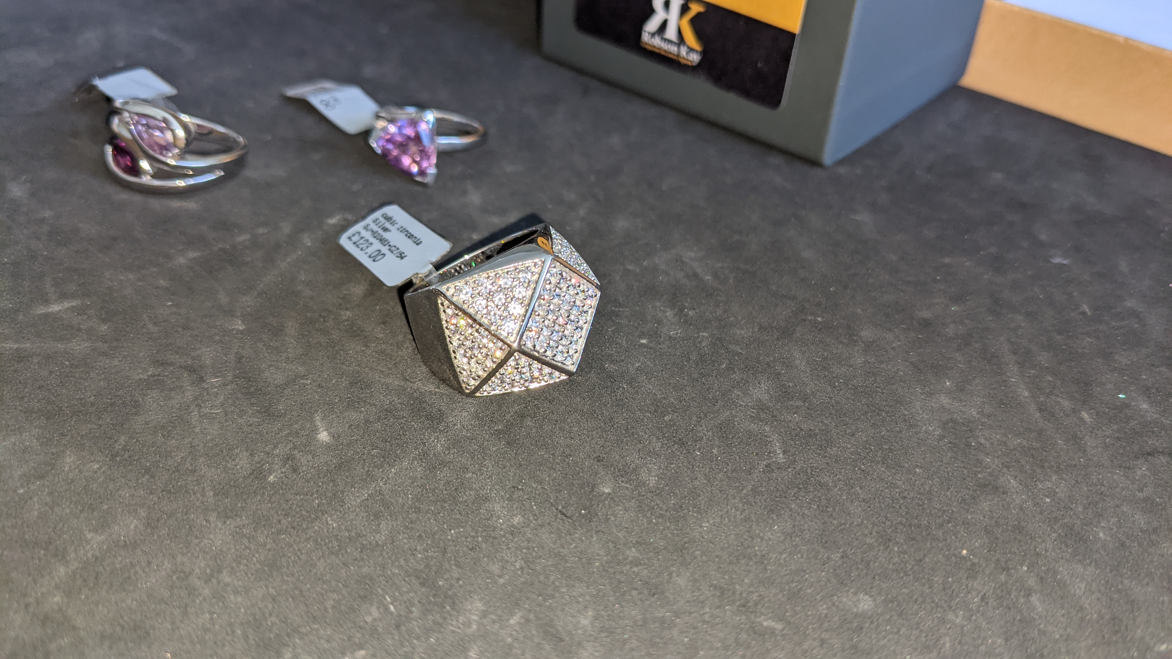 3 off assorted silver rings, each with a coloured stone. RRP from £115 - £123. Total RRP is £358 - Image 7 of 11