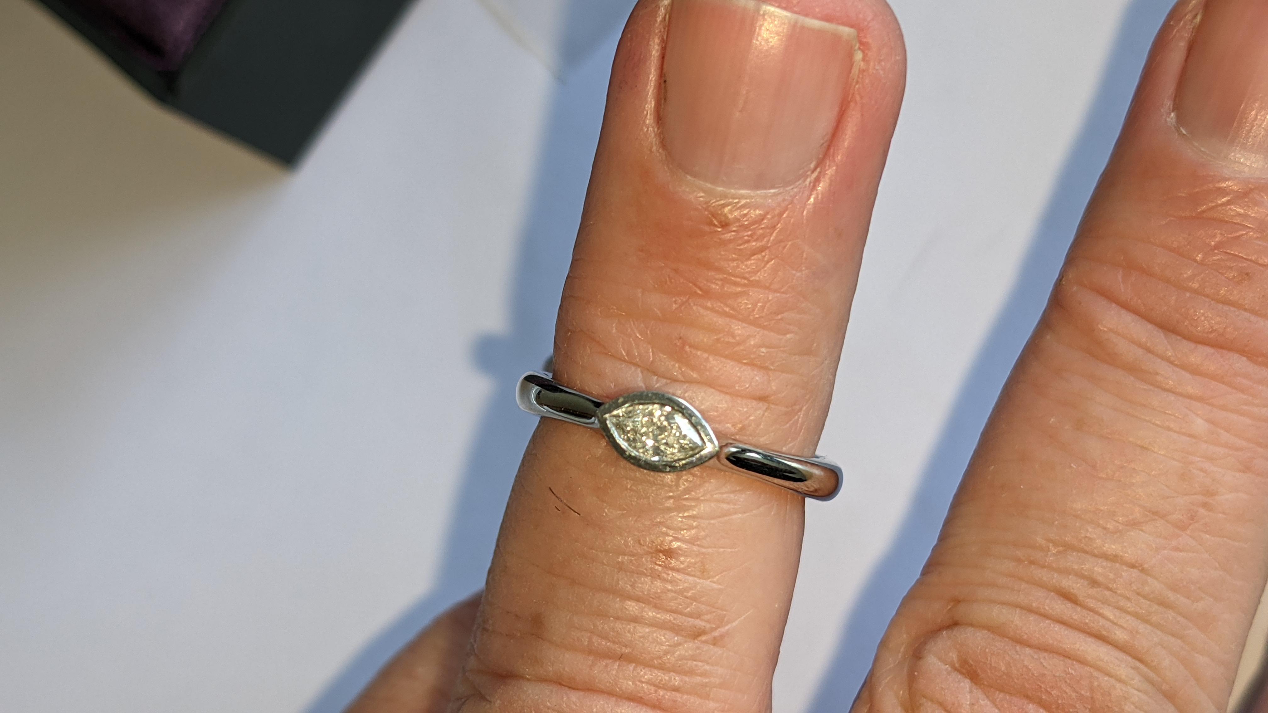 Platinum 950 & diamond ring with 0.22ct of G/VS diamond. RRP £2,502 - Image 13 of 14