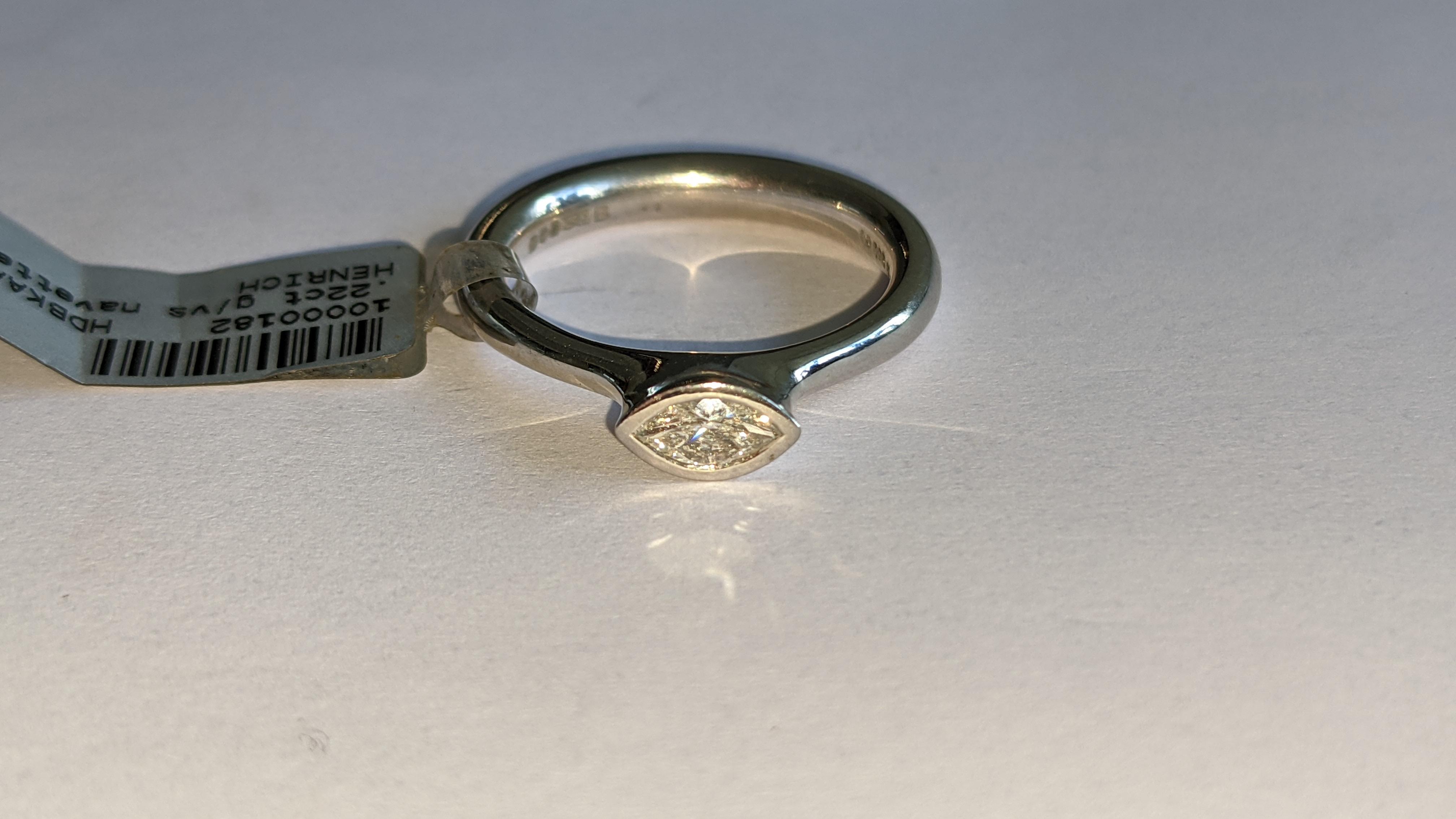 Platinum 950 & diamond ring with 0.22ct of G/VS diamond. RRP £2,502 - Image 6 of 14