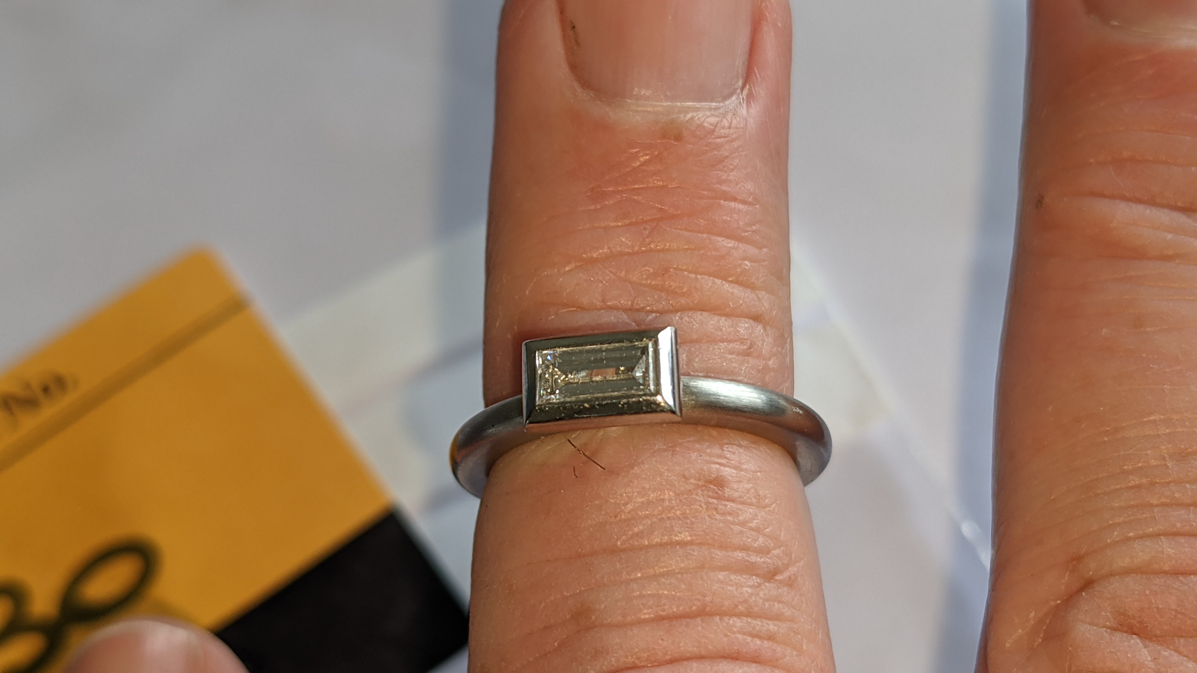 Modern platinum 950 & diamond ring with 0.42ct centrally mounted stone. RRP £4,677 - Image 16 of 18