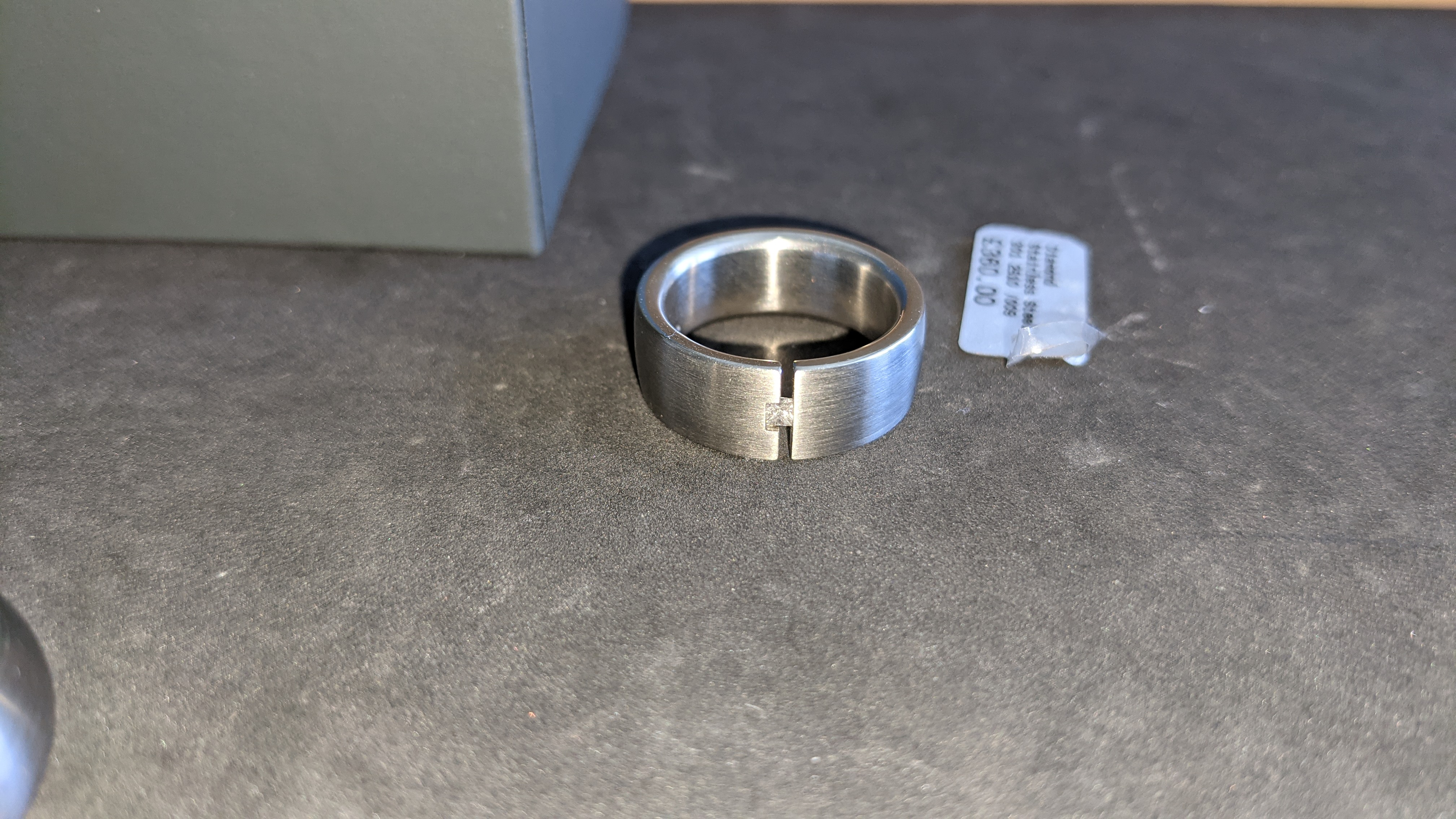 3 off assorted stainless steel & diamond rings with RRPs of £360, £378 & £379. Total RRP £1,117 - Image 4 of 14
