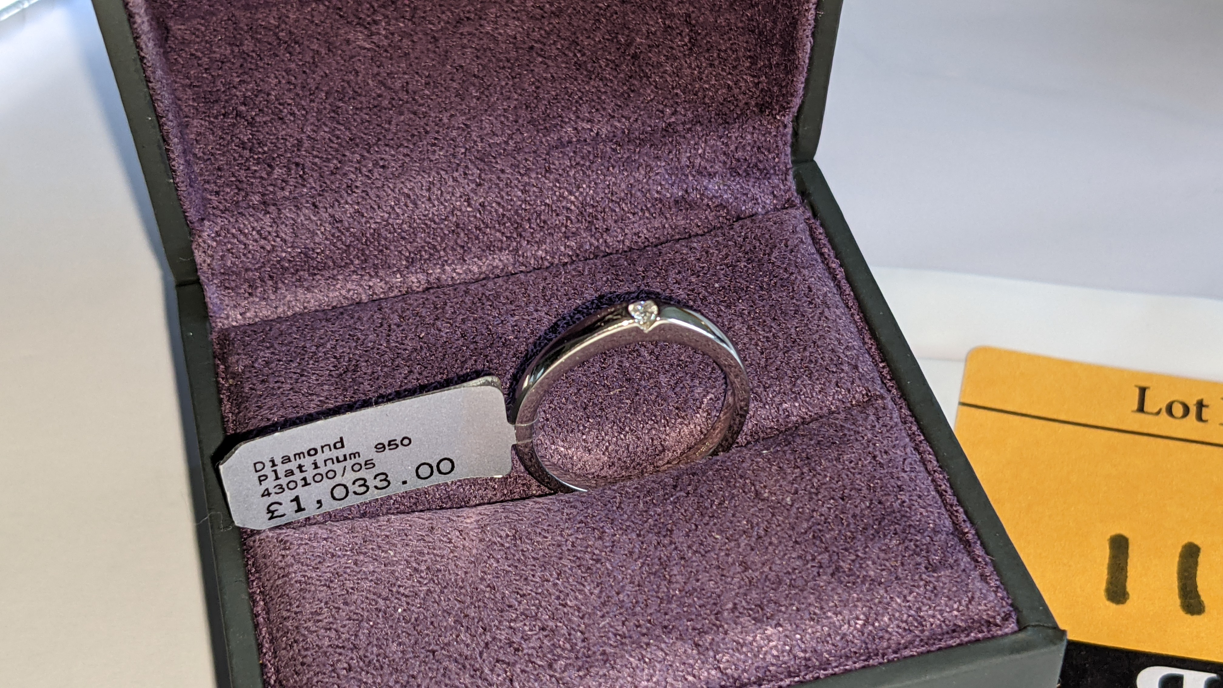 Platinum 950 ring with 0.05ct H/Si diamond. RRP £1,033 - Image 2 of 13