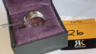 Platinum 950 ring in matt & polished finish, 7.5mm wide. RRP £2,960