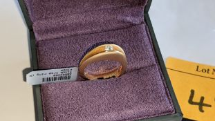 18ct rose gold ring with central stone assumed to be a diamond. RRP £2,800