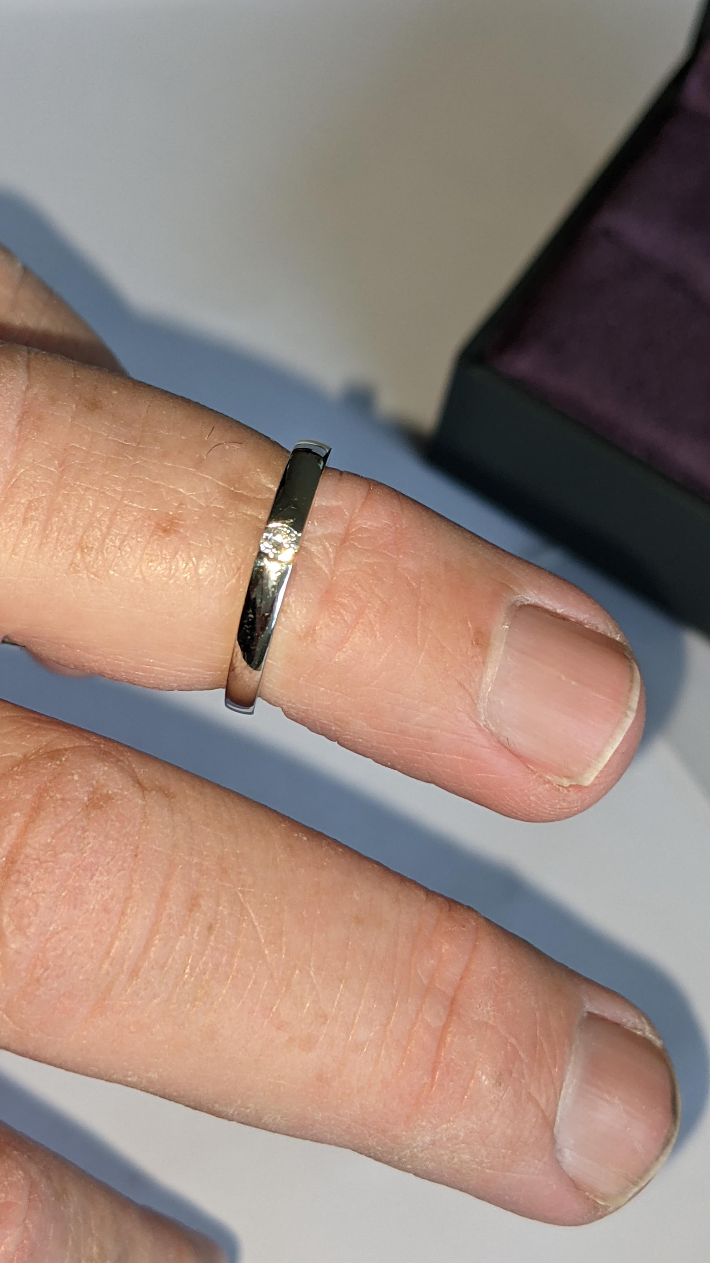 Platinum 950 ring with 0.05ct H/Si diamond. RRP £1,033 - Image 12 of 13