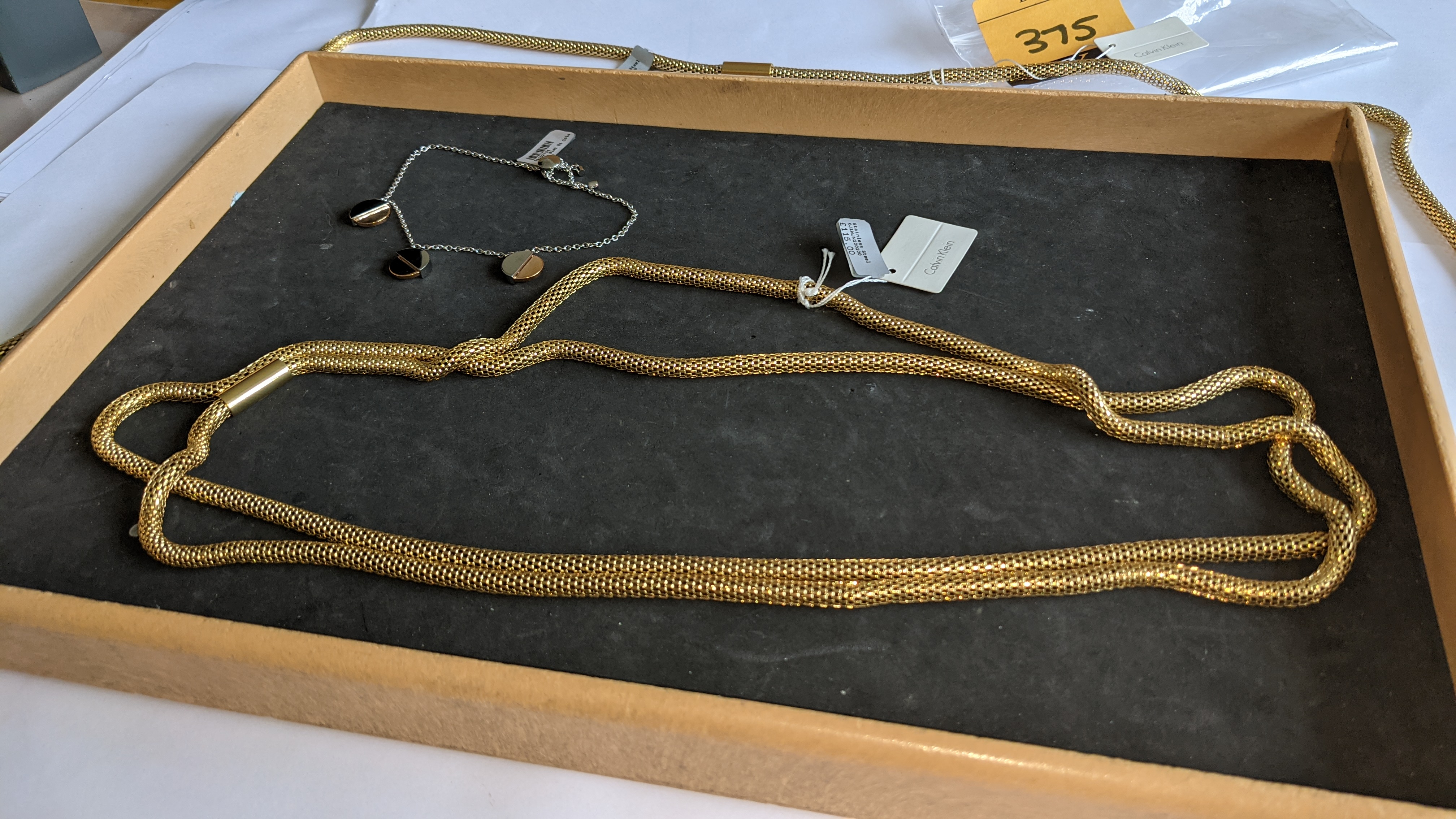 3 pieces of Calvin Klein jewellery comprising 2 off long necklaces each with an RRP of £115 plus two - Image 6 of 13