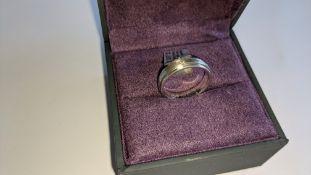 Diamond & platinum ring in platinum 950 with 6 diamonds each 0.01ct in size. RRP £2,150