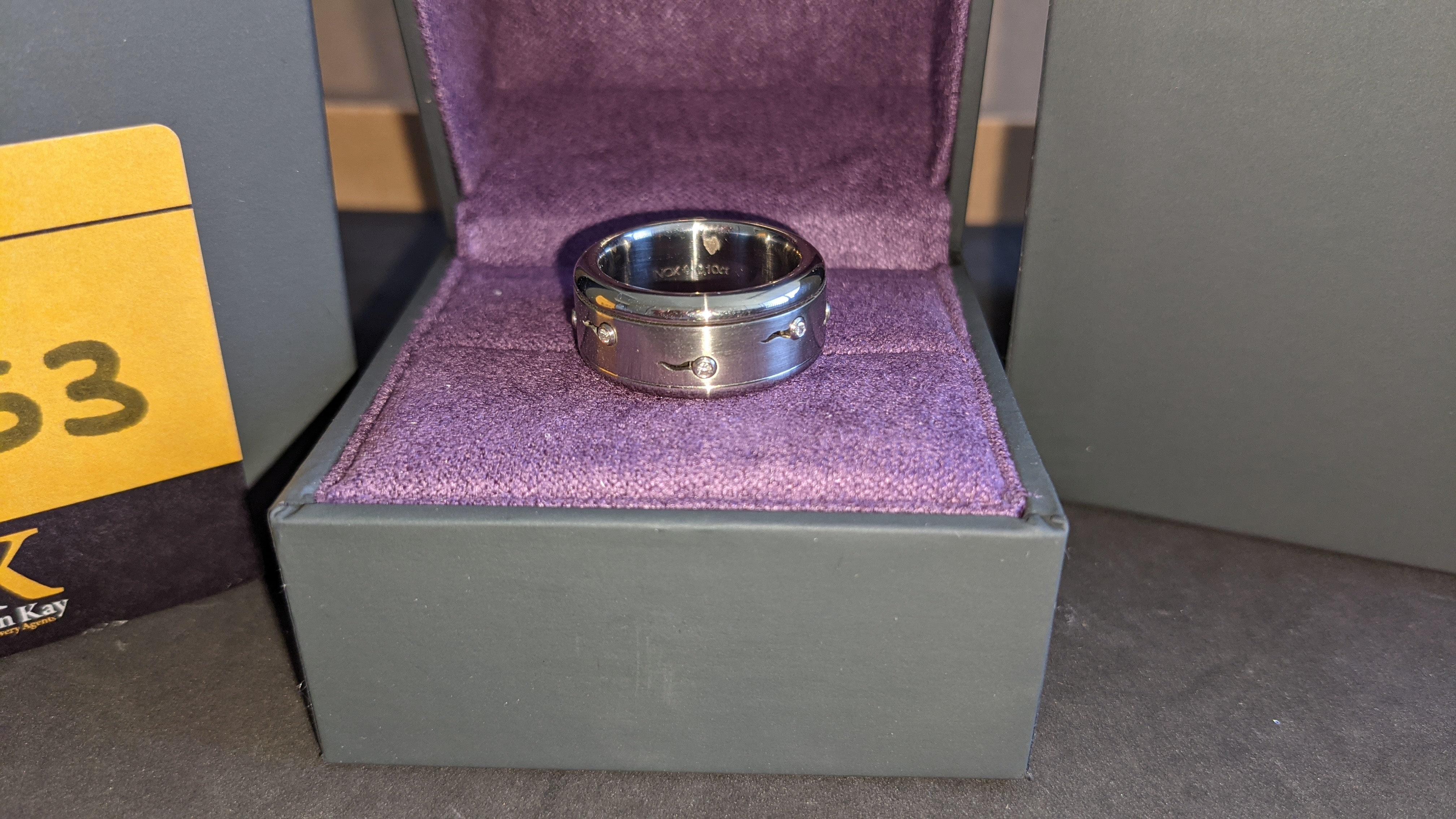 Stainless steel & diamond spin ring RRP £455 - Image 4 of 13