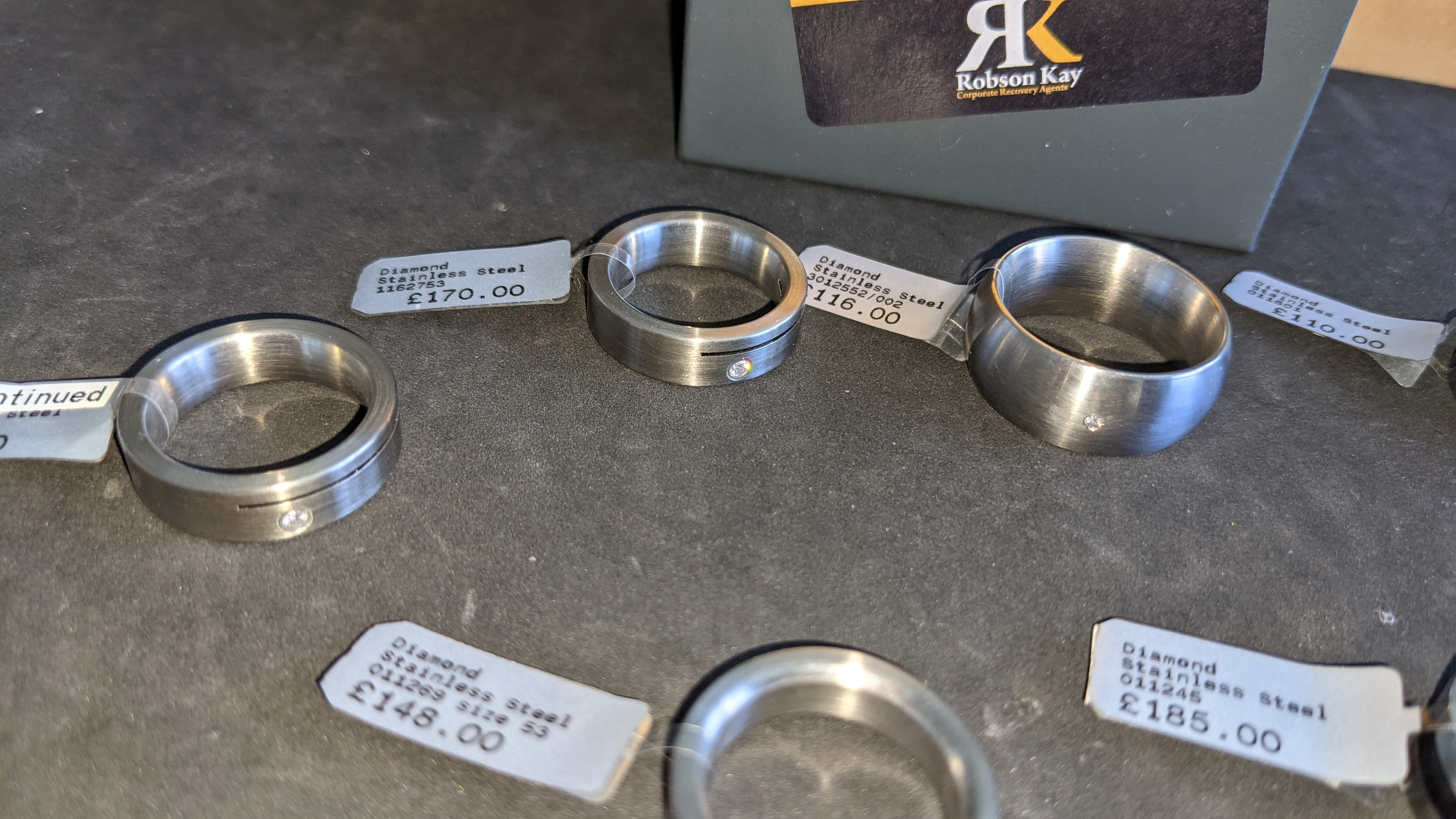 7 off assorted stainless steel & diamond rings. RRPs from £110 - £185. Total RRP £1,089 - Image 8 of 12