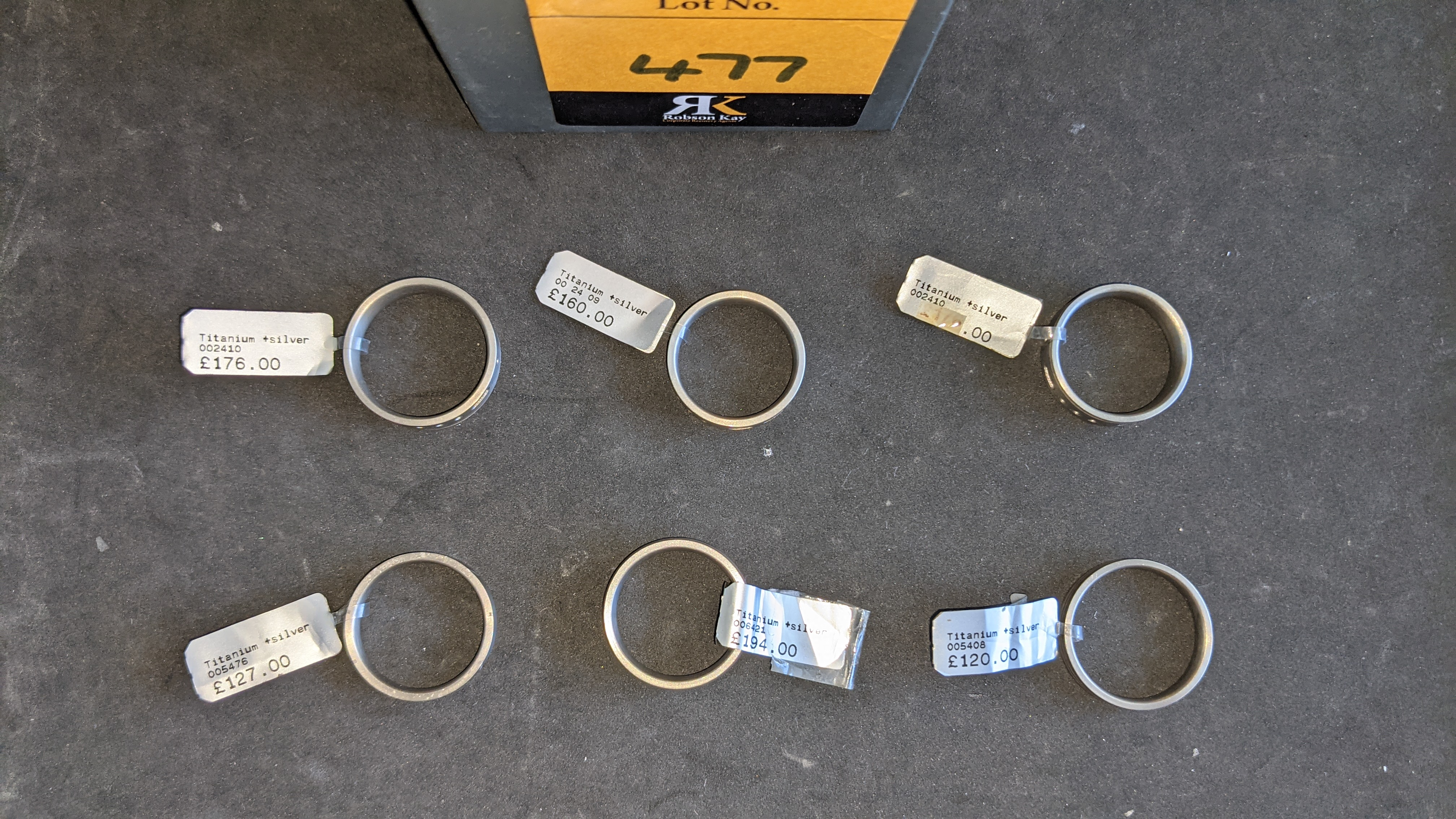 6 off assorted titanium & silver ring with RRPs from £120 - £194 per ring. Total RRP is £953 - Image 7 of 10