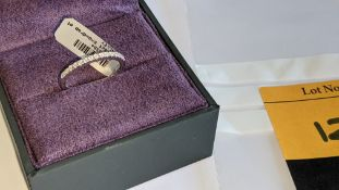 18ct white gold ring with 0.15ct of diamonds. RRP £850