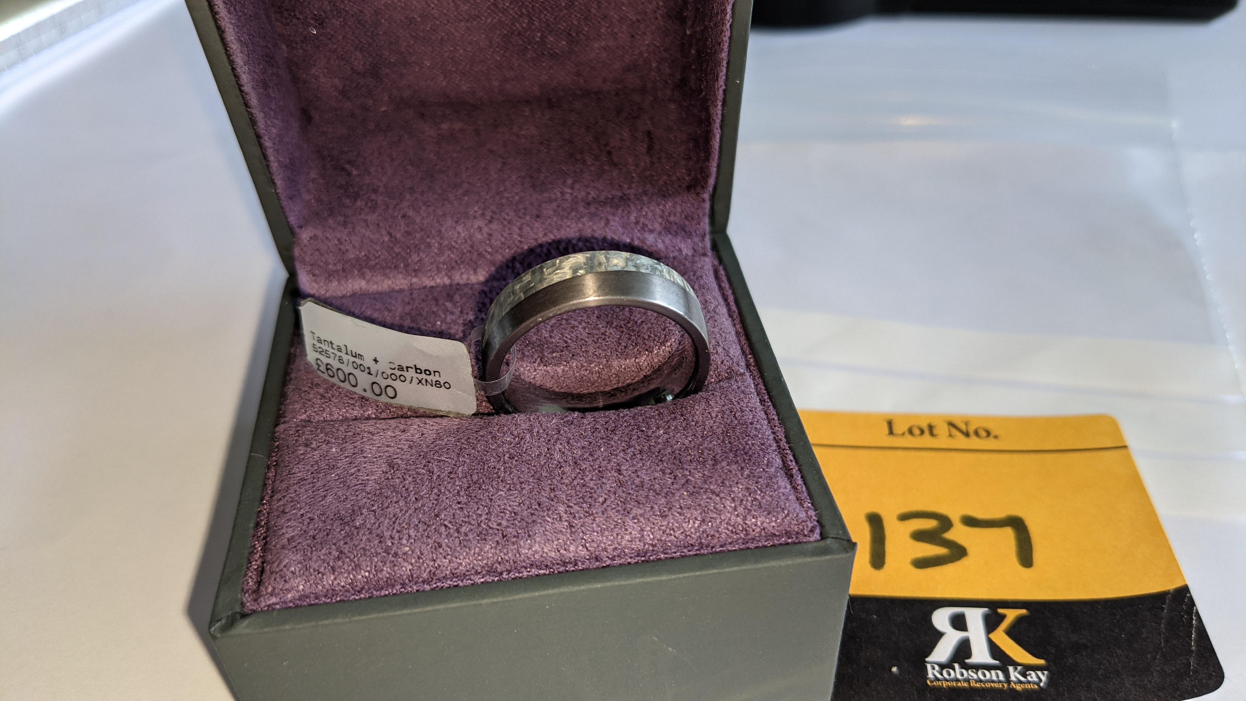 Tantalum & carbon ring RRP £600 - Image 13 of 13