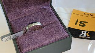 Platinum 950 & diamond ring. RRP £2,645